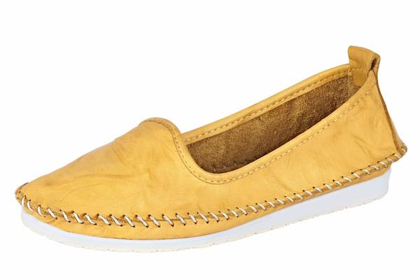 Slipper für Frauen - ANDREA CONTI Slipper gelb weiß  - Onlineshop ABOUT YOU