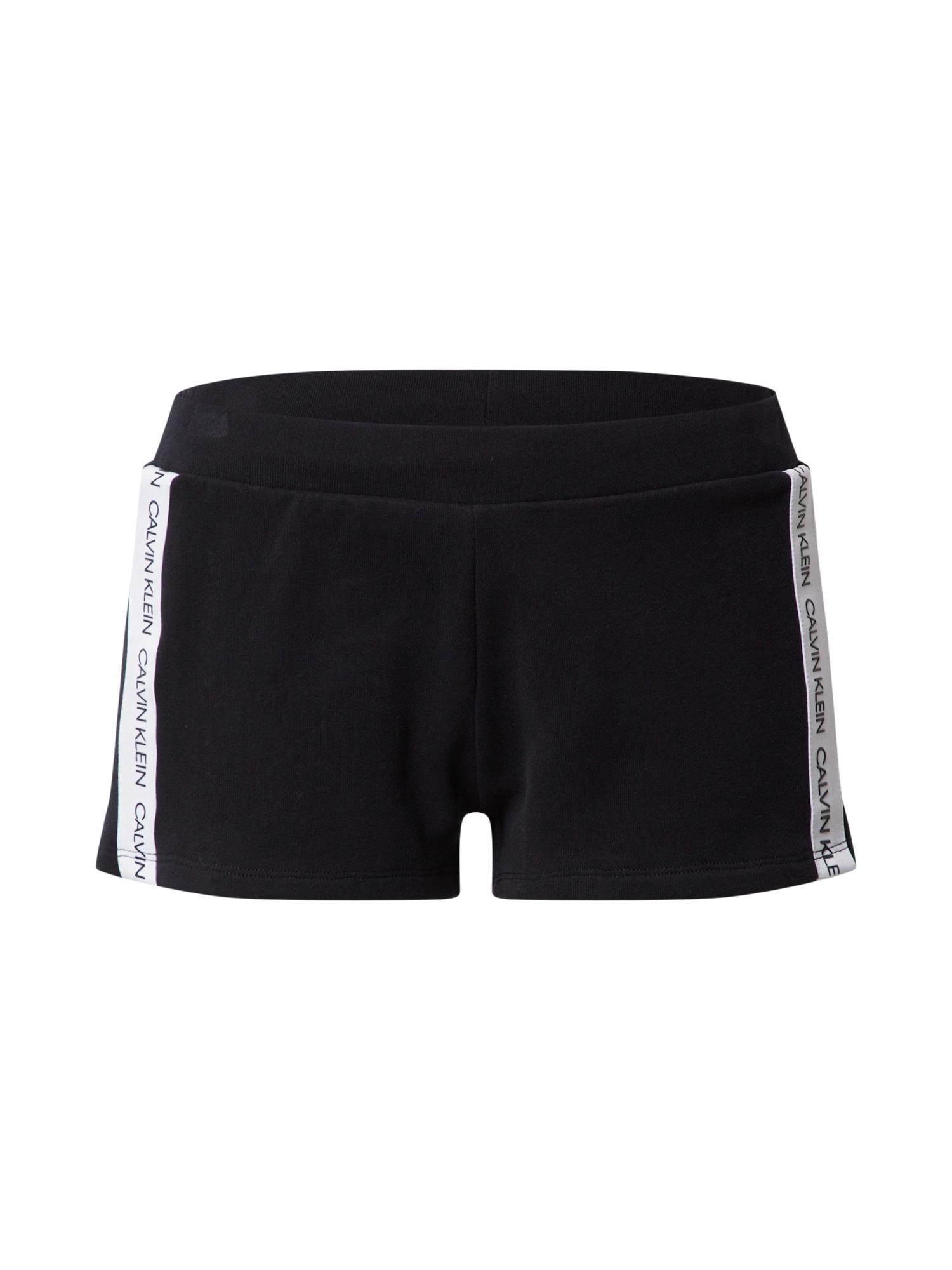 Calvin Klein Underwear Pižaminės kelnės 'W' balta / juoda