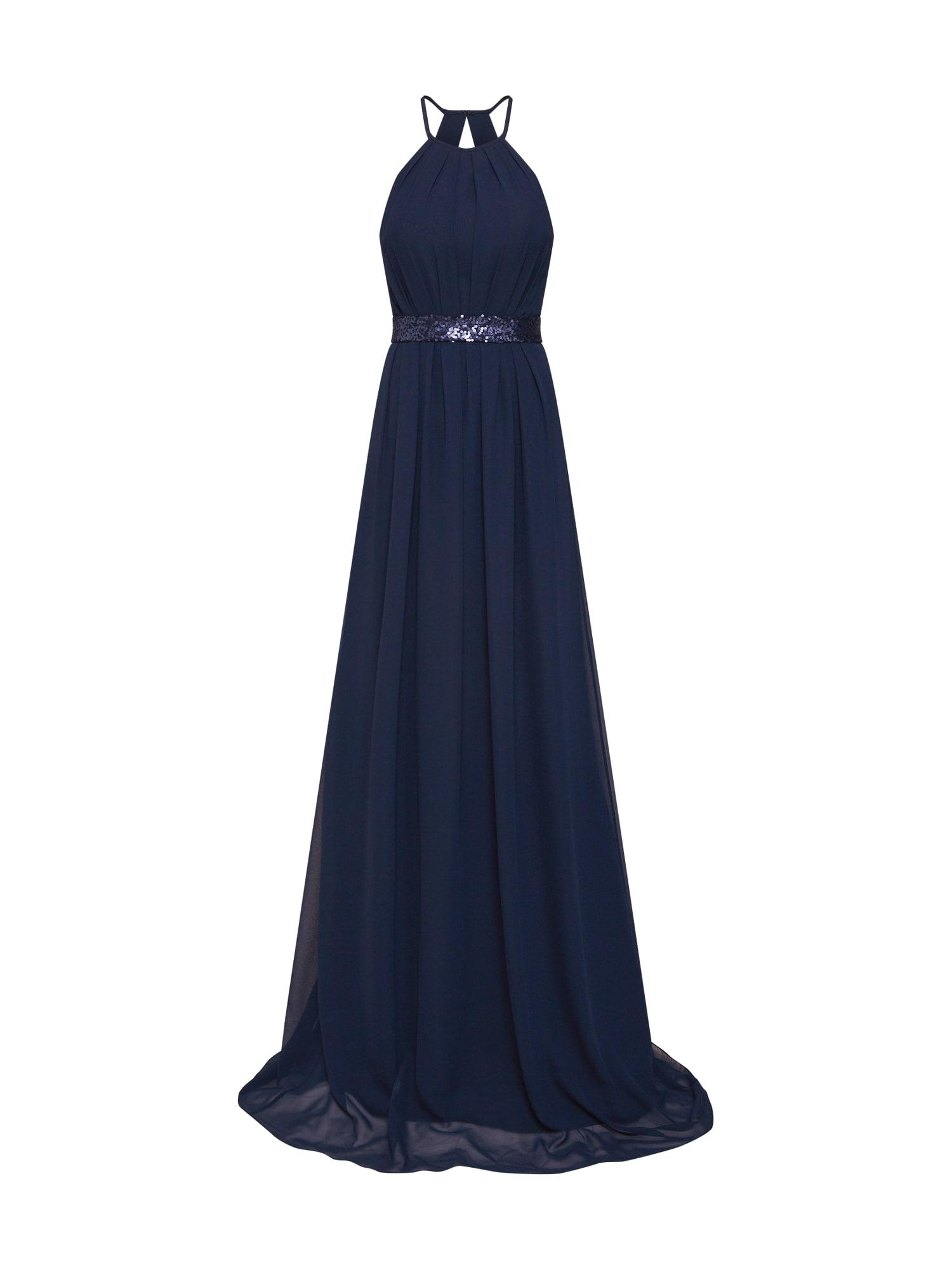 STAR NIGHT Společenské šaty 'long dress chiffon & sequins'  námořnická modř