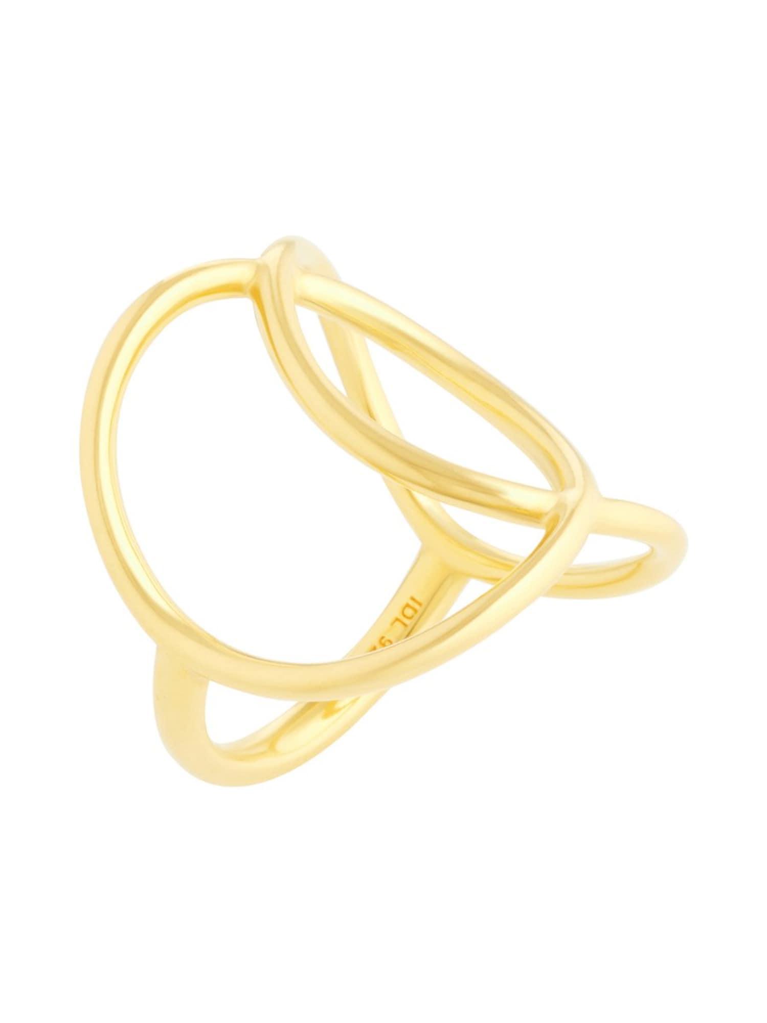 Damen ID Fine Ring 'Double Sphere' gold | 05704465109357