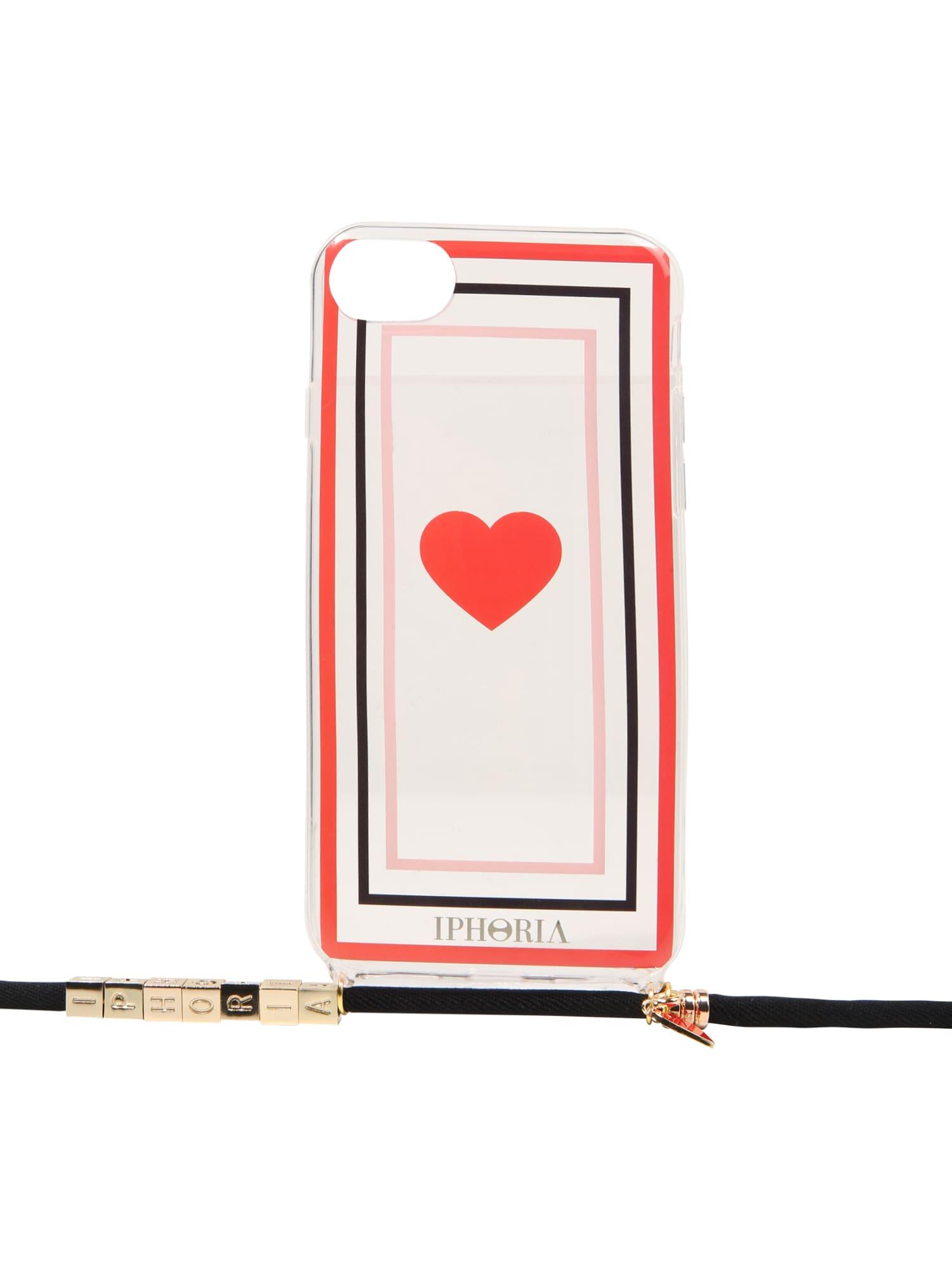 Pouzdro na smartphone Transparent červená IPHORIA