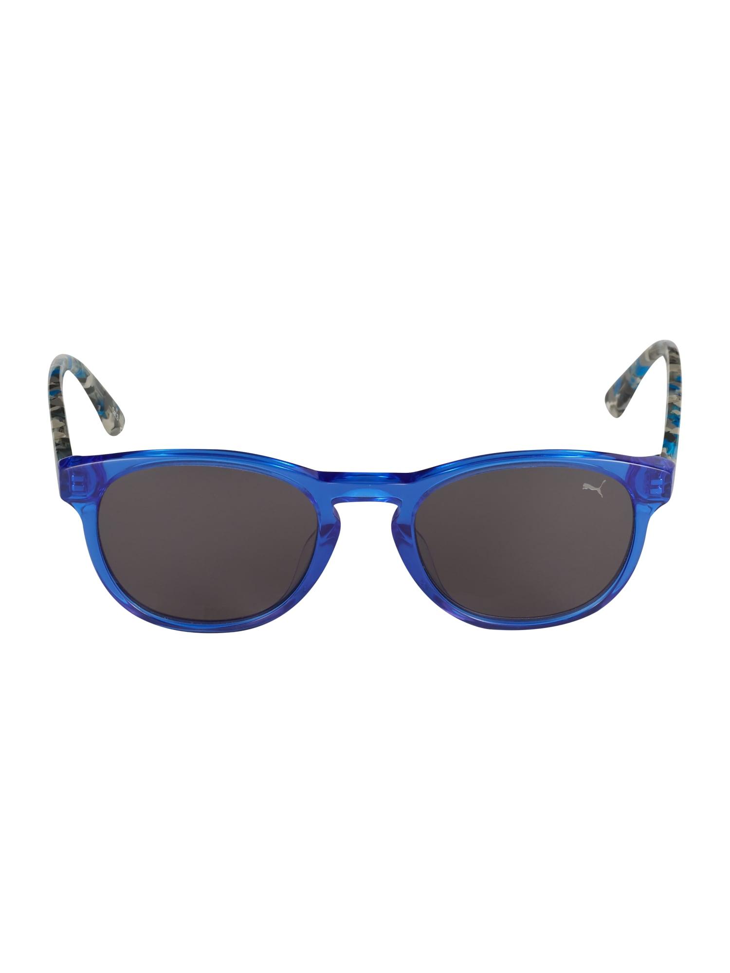 PUMA Akiniai nuo saulės 'PJ0023S' dūmų pilka / mėlyna