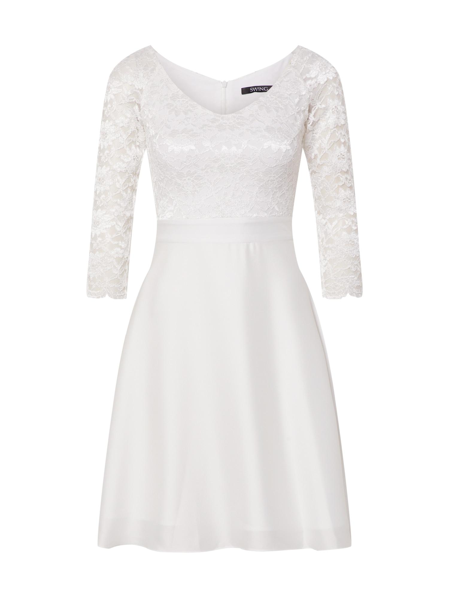 SWING Kokteilinė suknelė balta / kremo