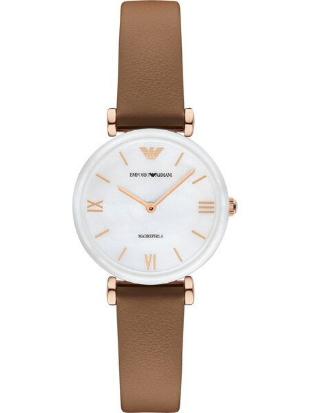 Uhren für Frauen - Emporio Armani Uhr braun rosegold weiß  - Onlineshop ABOUT YOU