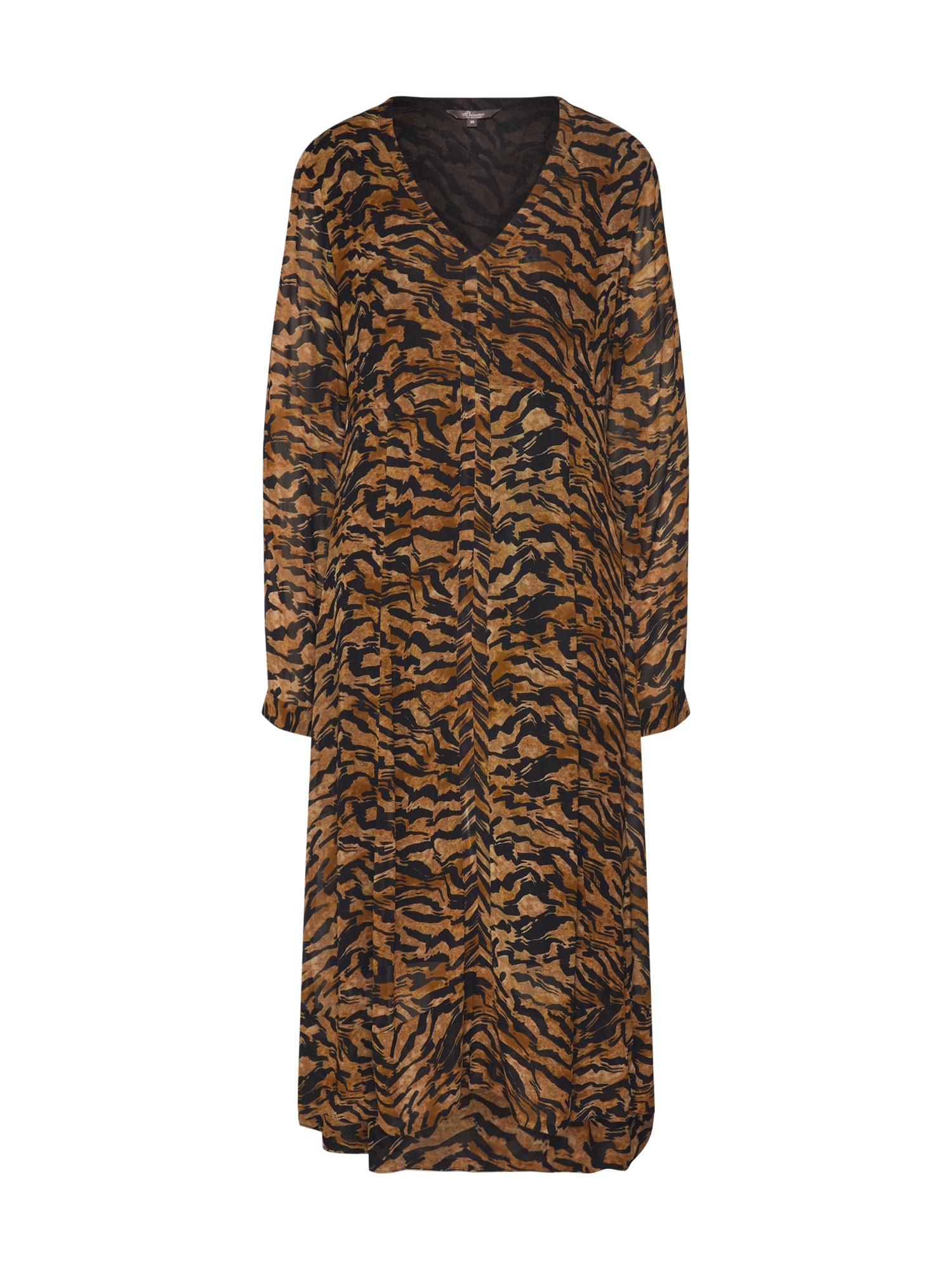 PRINCESS GOES HOLLYWOOD Suknelė ruda / juoda