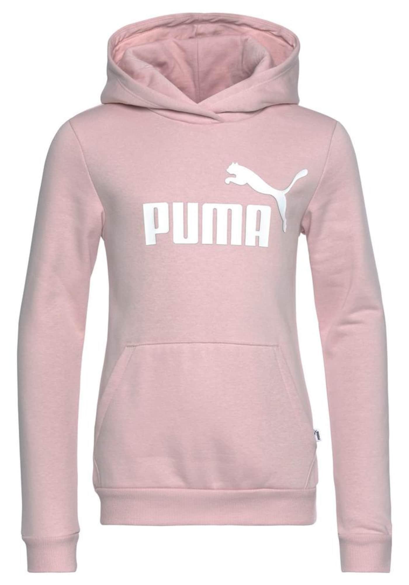PUMA Sportinio tipo megztinis balta / rožių spalva