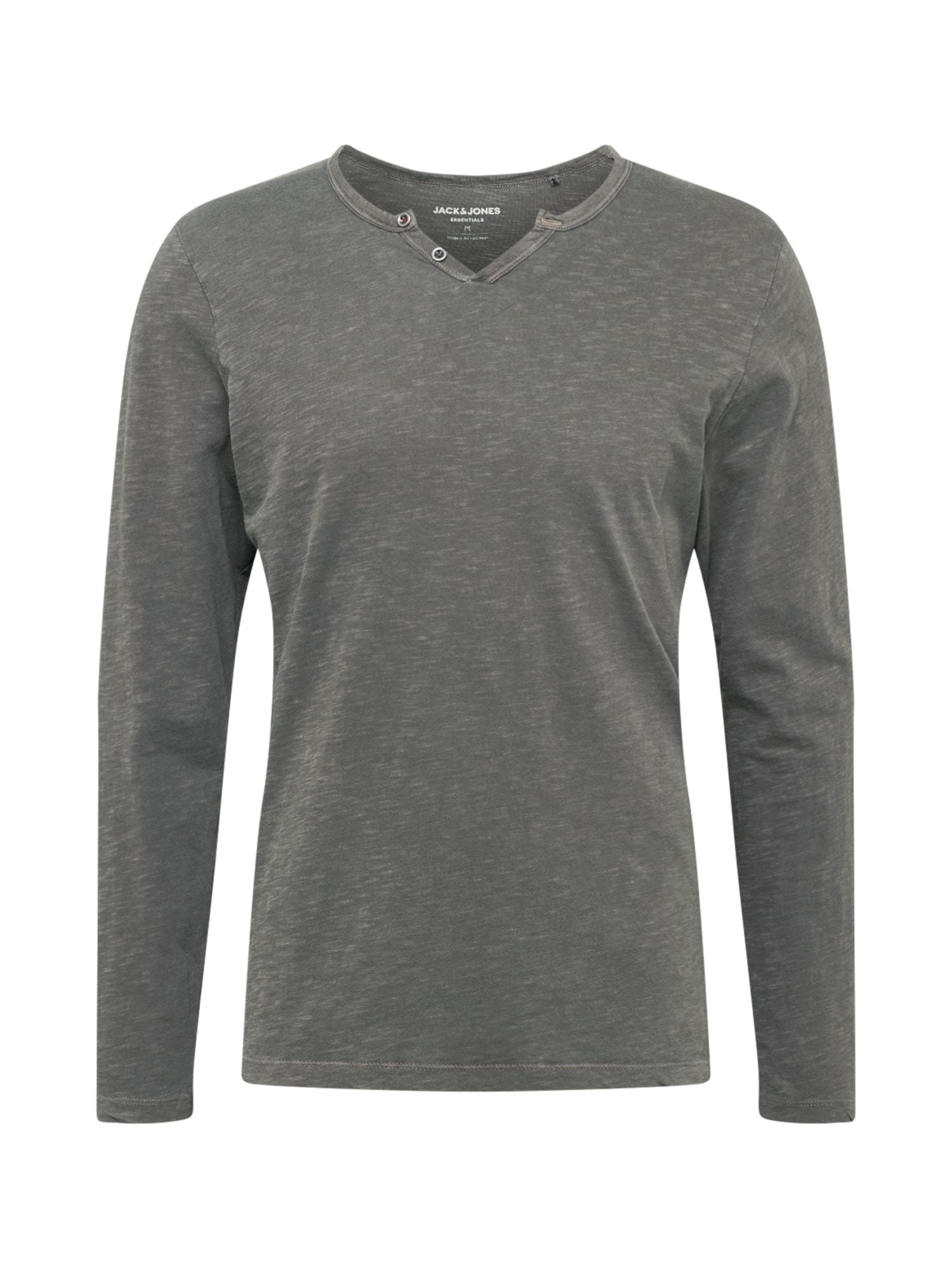 JACK & JONES Marškinėliai šviesiai pilka / tamsiai pilka