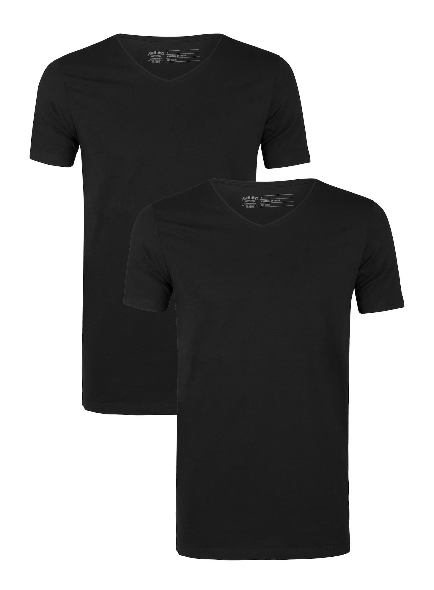Petrol Industries Marškinėliai juoda