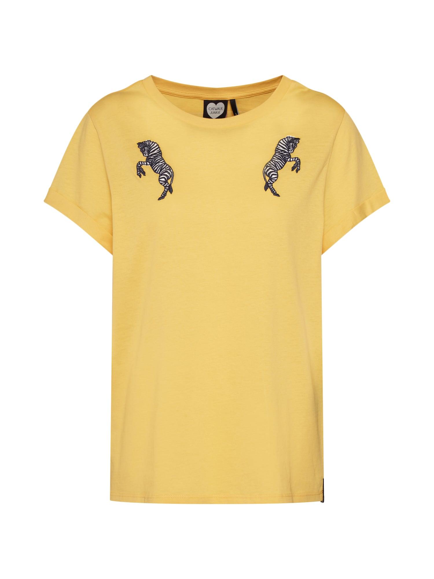 Tričko TS WILD ZEBRA žlutá CATWALK JUNKIE