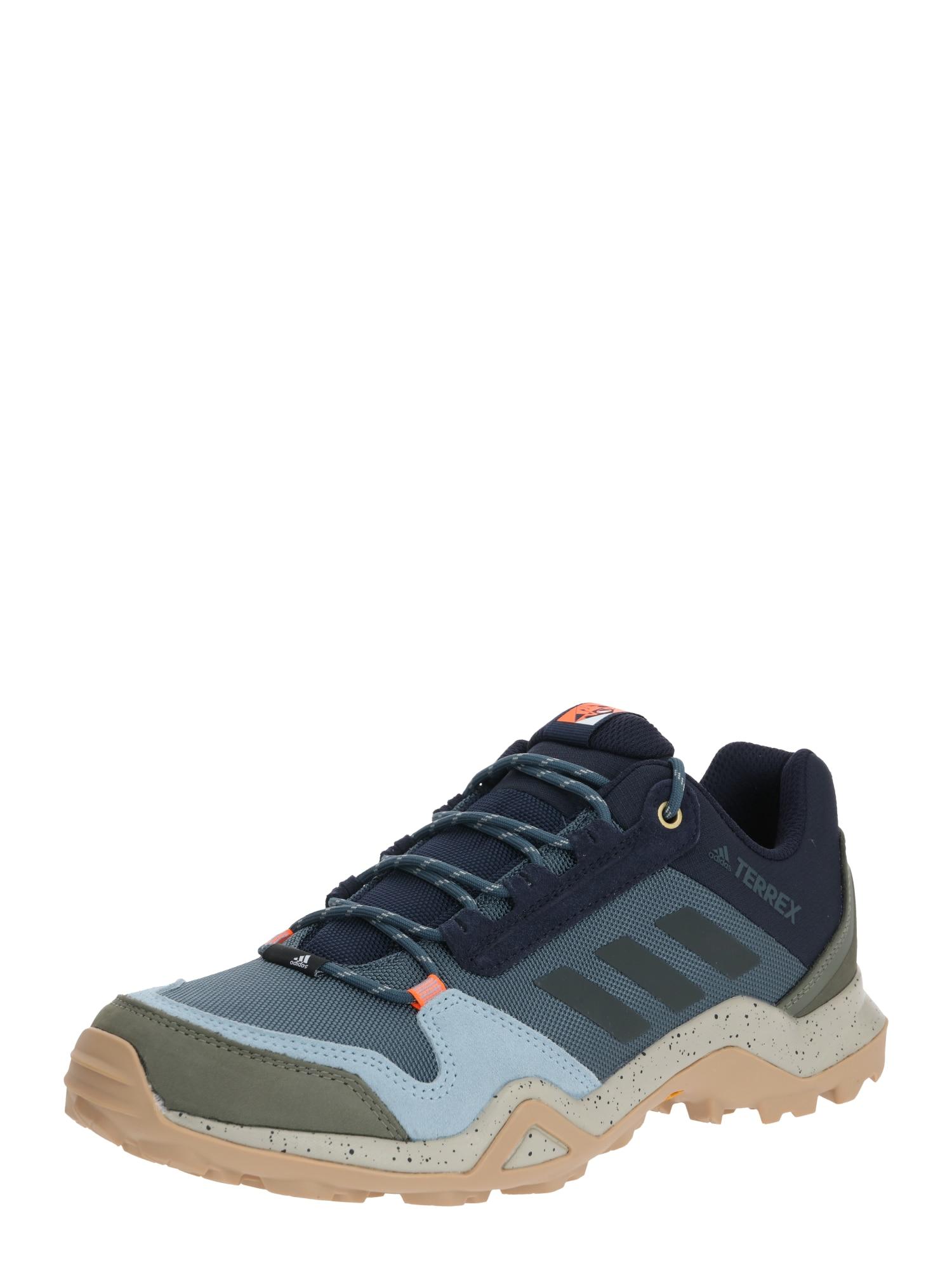 ADIDAS PERFORMANCE Bėgimo batai 'TERREX AX3 BLUE' tamsiai mėlyna / smėlio