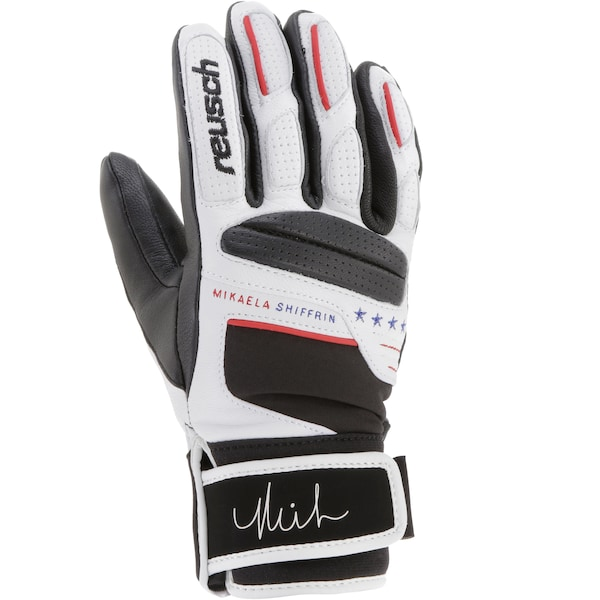 Handschuhe für Frauen - REUSCH Skihandschuhe 'MIKAELA SHIFFRIN' blau feuerrot schwarz weiß  - Onlineshop ABOUT YOU