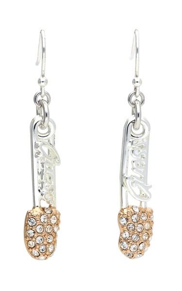 Ohrringe für Frauen - GUESS Ohrhänger 'UBE21108' apricot silber  - Onlineshop ABOUT YOU