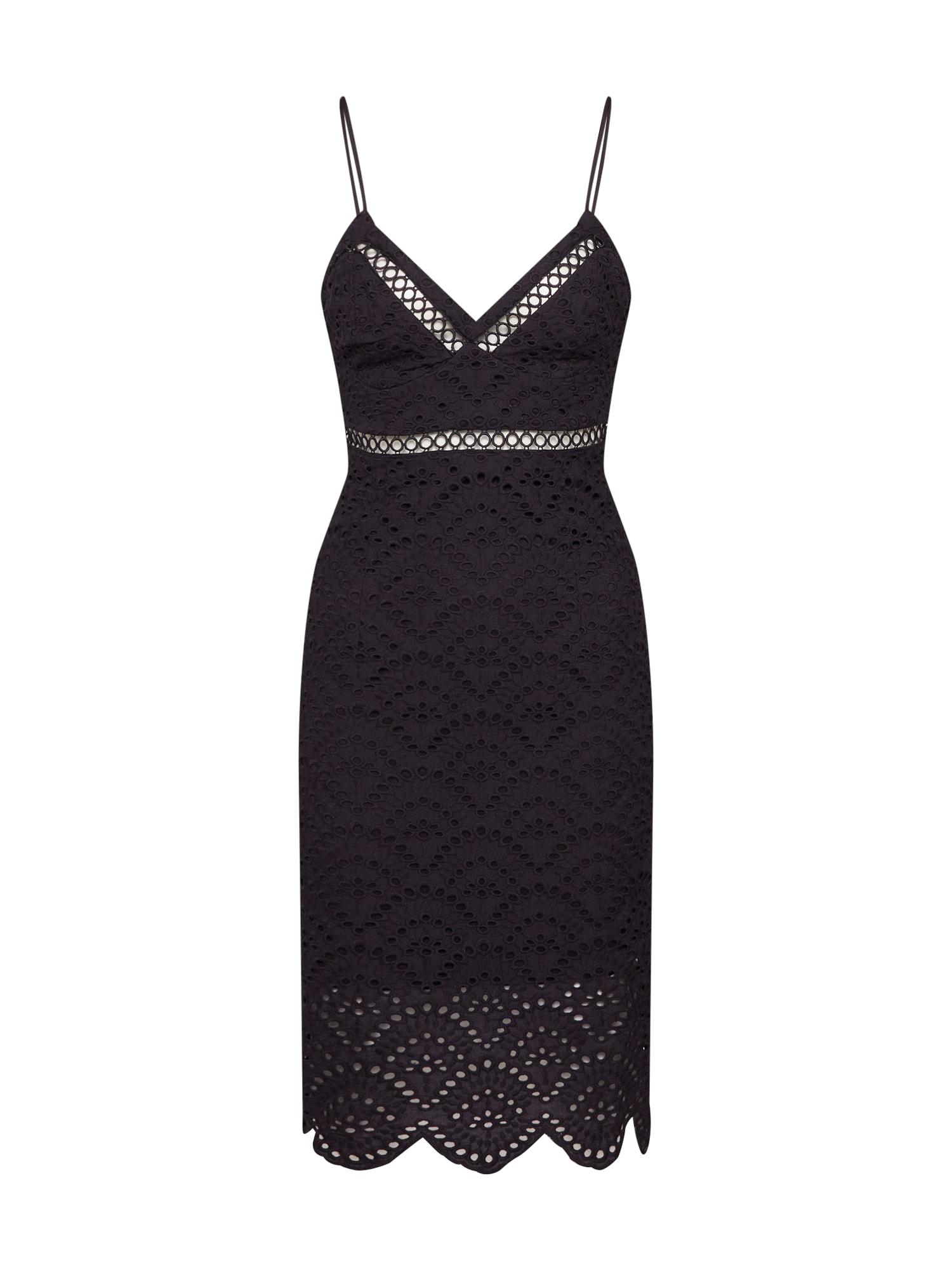 Společenské šaty SOFIA EMBROIDERED DRESS černá Bardot