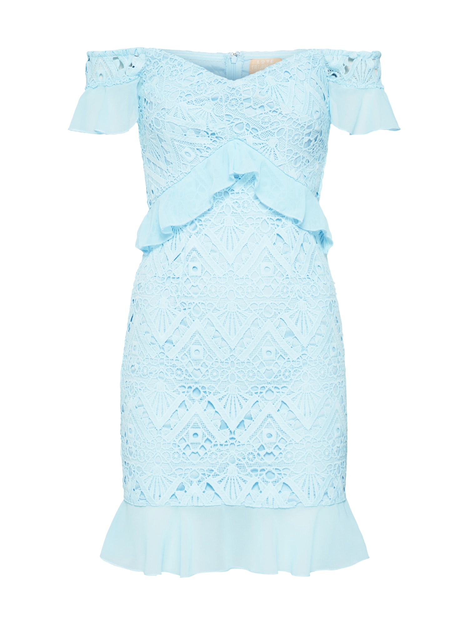 Letní šaty světlemodrá Love Triangle