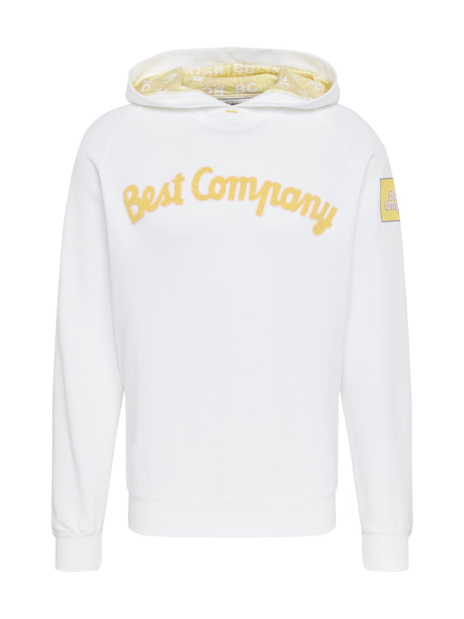 Best Company Megztinis be užsegimo 'HOODIE CLASSIC' geltona / balta