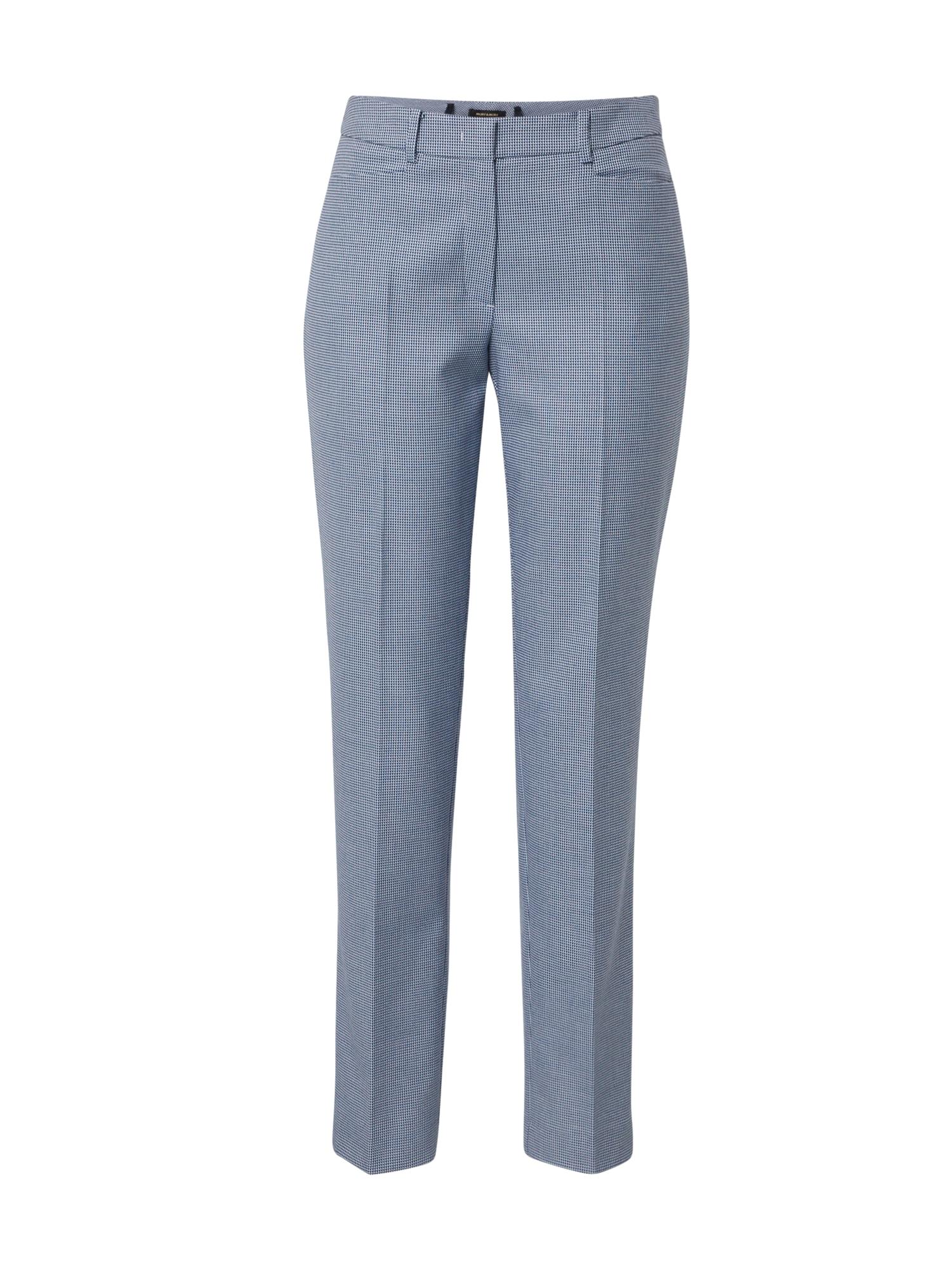 MORE & MORE Kelnės su kantu 'Hedy' melsvai pilka