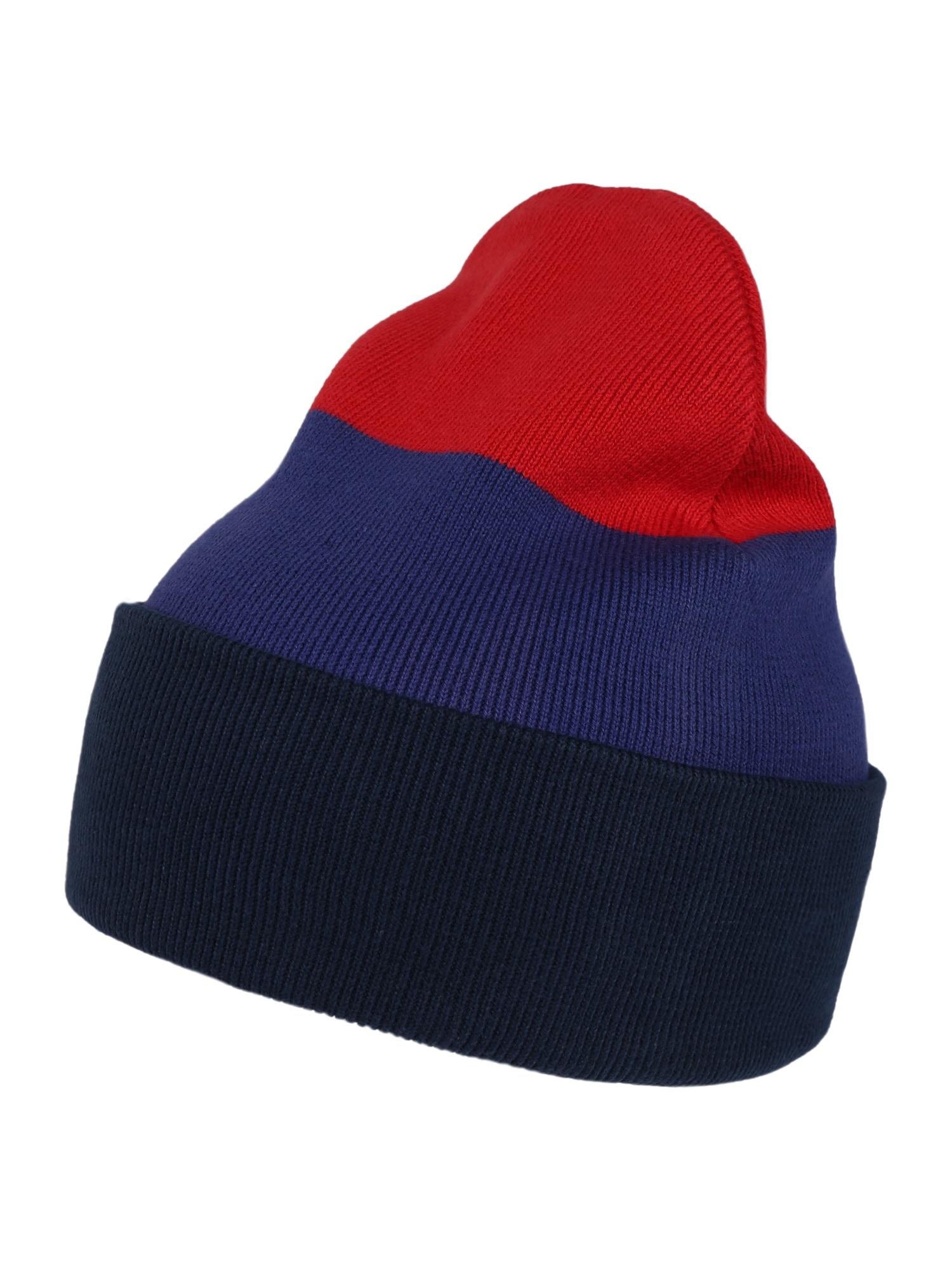 ThokkThokk Megzta kepurė tamsiai mėlyna / raudona / mėlyna
