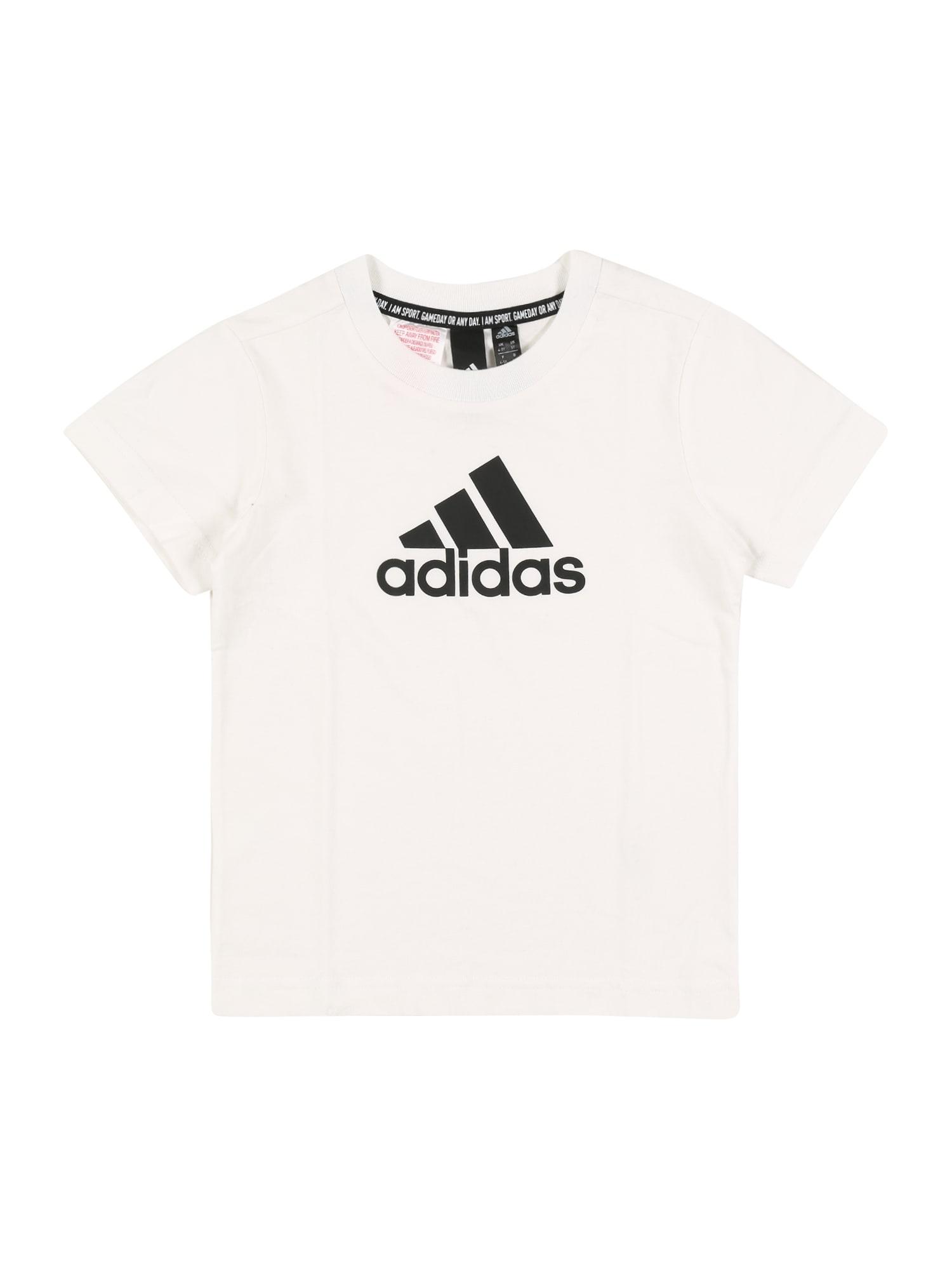 ADIDAS PERFORMANCE Funkčné tričko 'Must Have Badge of Sport'  biela / čierna