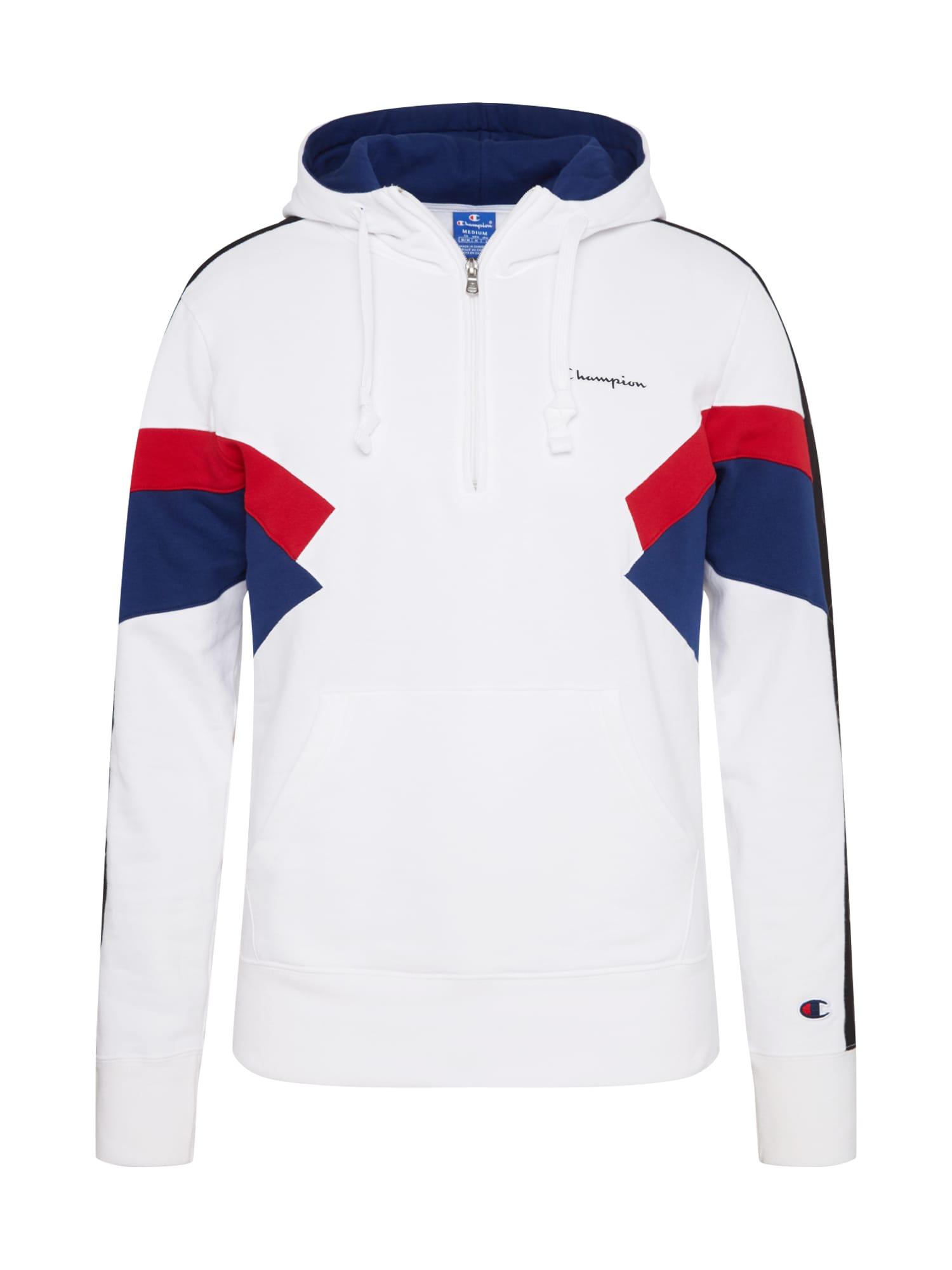 Champion Authentic Athletic Apparel Megztinis be užsegimo tamsiai mėlyna jūros spalva / raudona / balta
