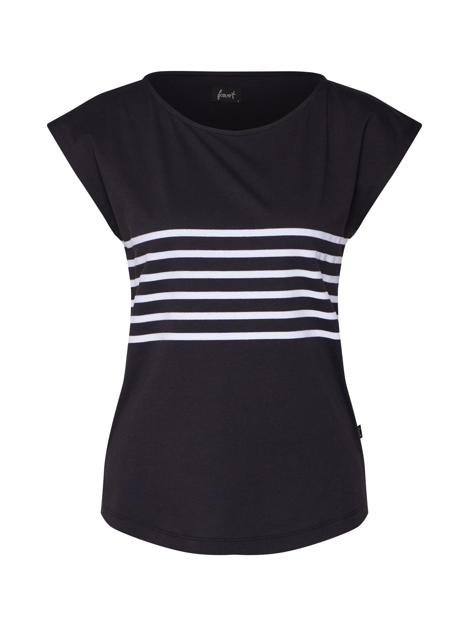 Forvert Marškinėliai 'Molona' juoda / balta