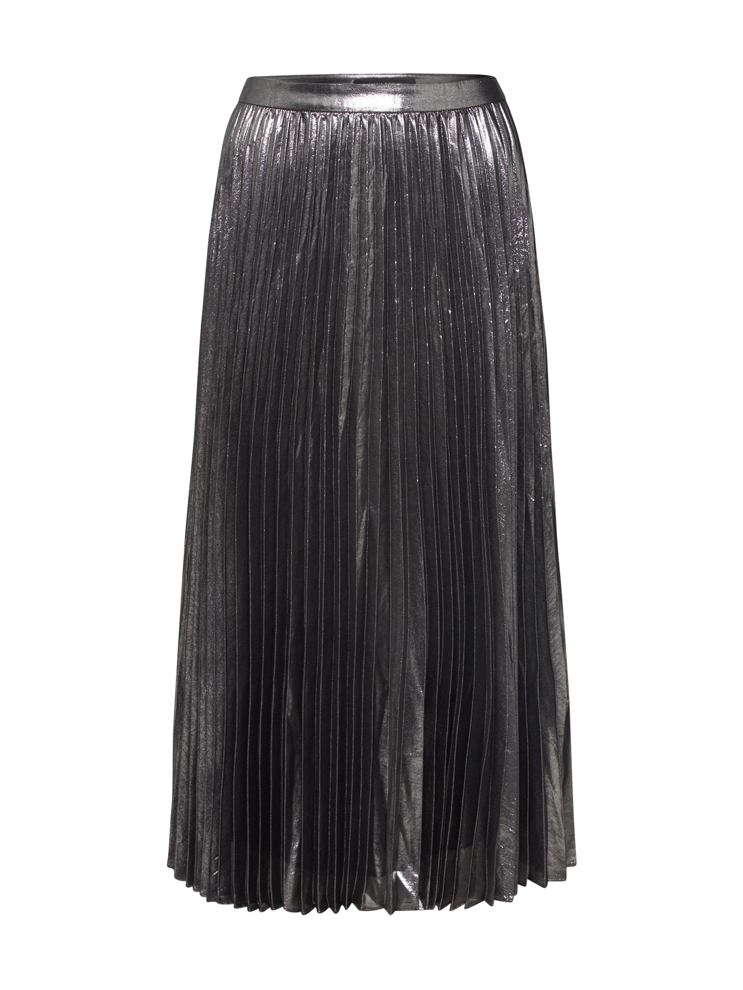 Banana Republic Sijonas 'PLEATED MIDI METALLIC' antracito