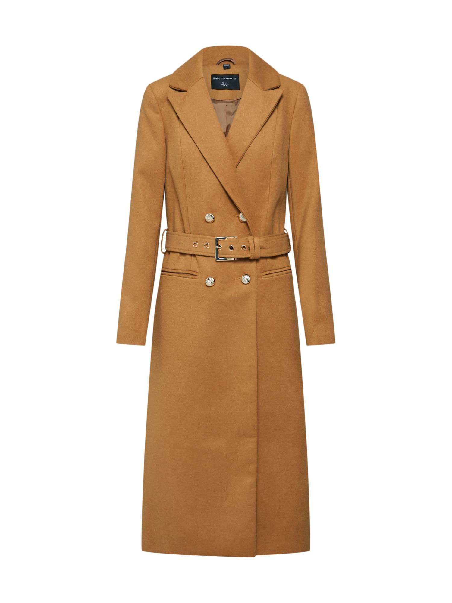 Přechodný kabát CAMEL MIDI velbloudí Dorothy Perkins