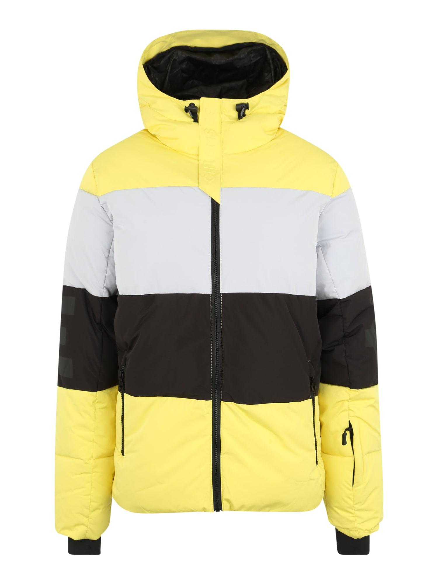 CHIEMSEE Sportinė striukė geltona / šviesiai pilka / juoda