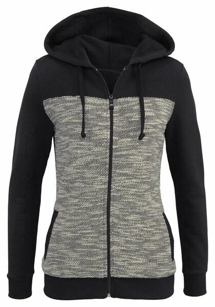 Jacken für Frauen - BUFFALO Sweatjacke schwarz weißmeliert  - Onlineshop ABOUT YOU