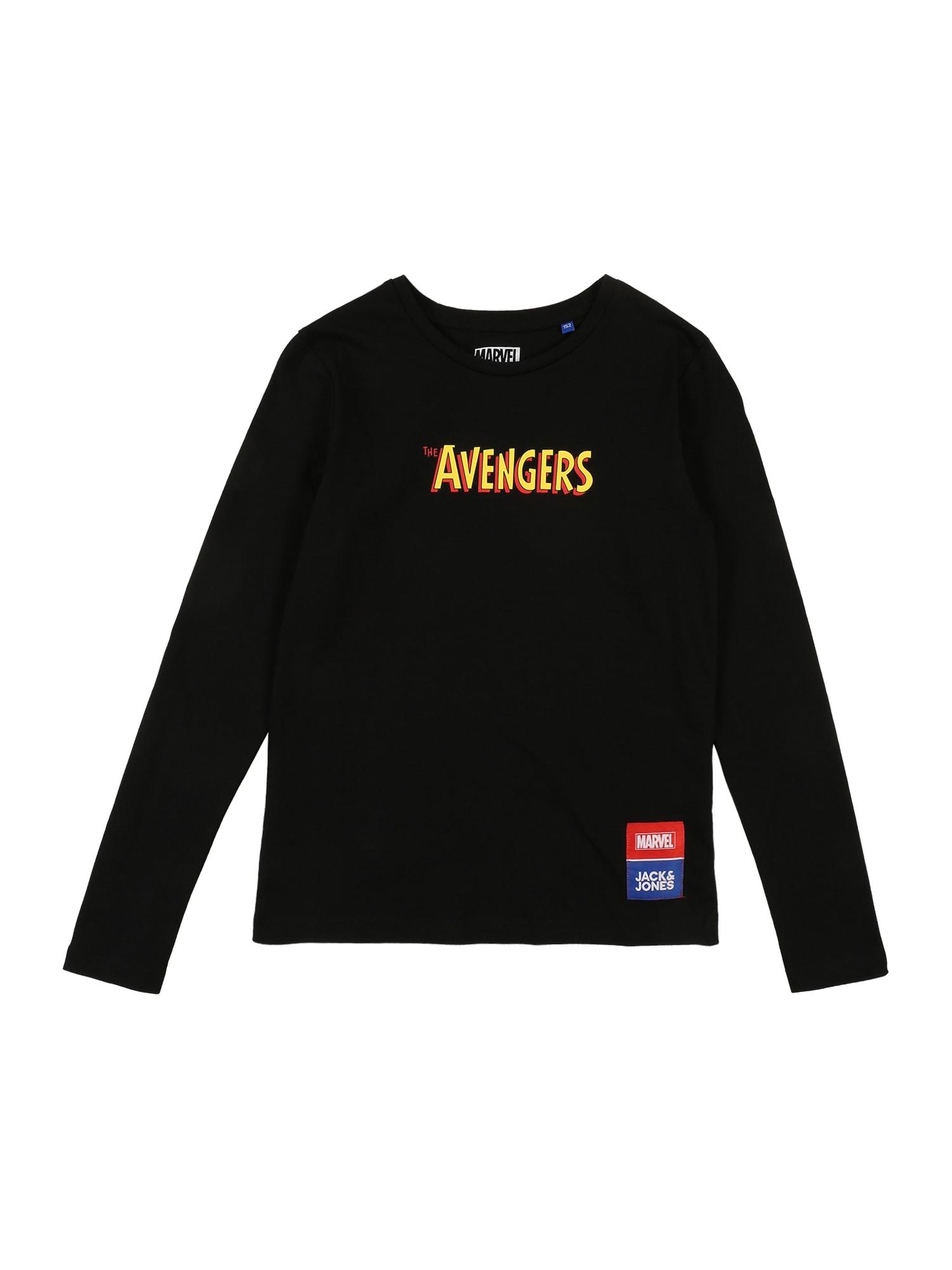 Jack & Jones Junior Marškinėliai 'Avengers' nakties mėlyna