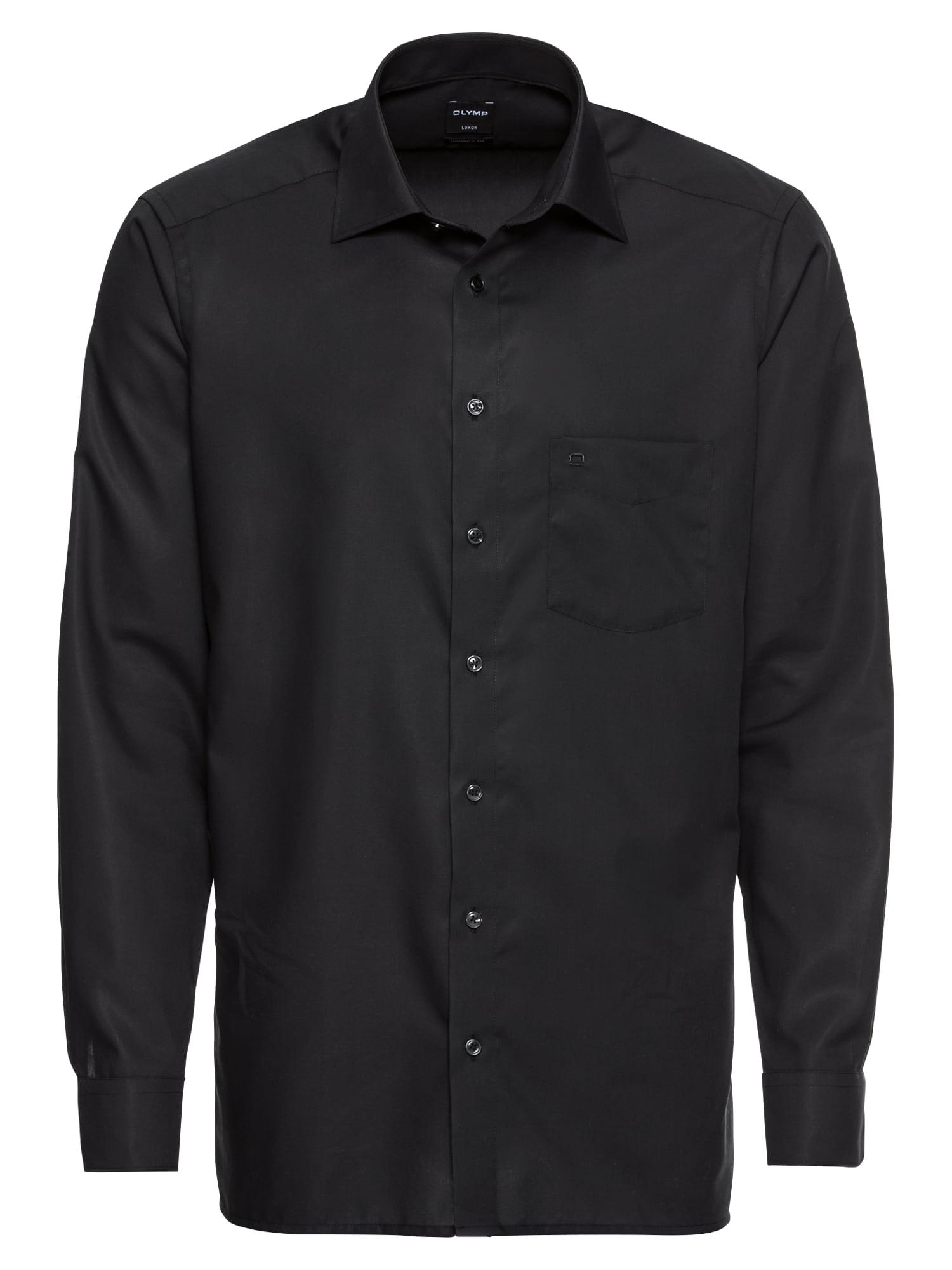 Společenská košile Luxor Uni Pop černá OLYMP