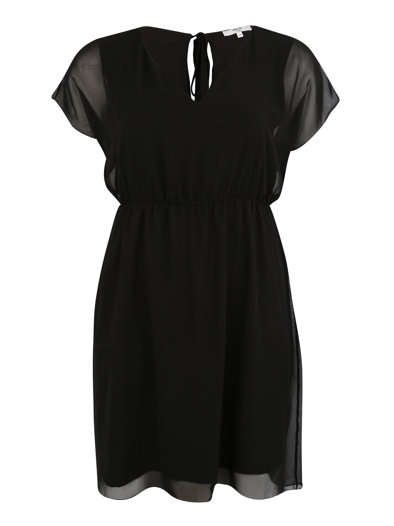 Šaty Dakota černá ABOUT YOU Curvy