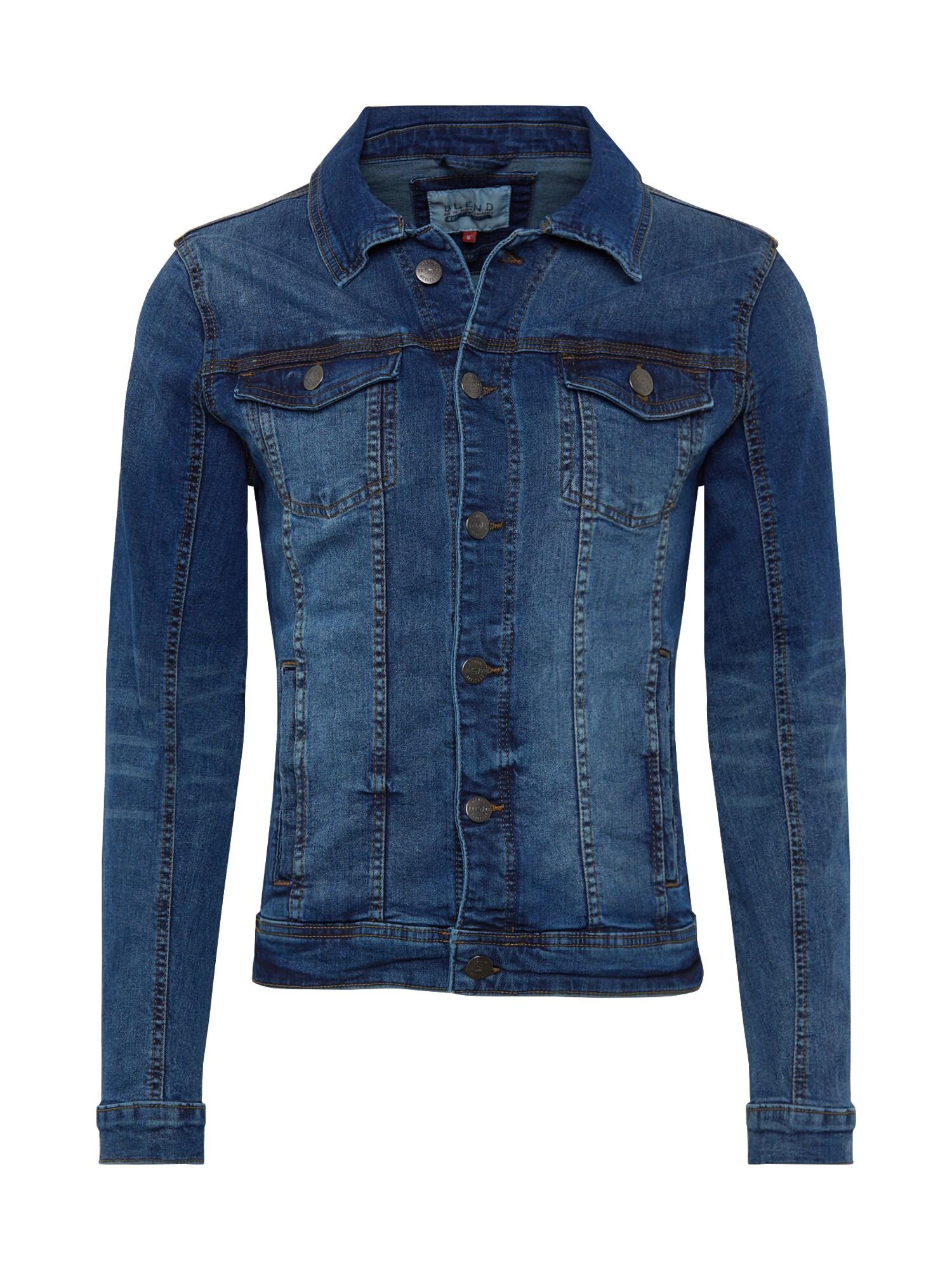 BLEND Demisezoninė striukė tamsiai (džinso) mėlyna