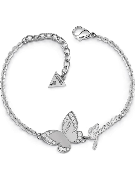 Armbaender für Frauen - GUESS Armband 'Butterfly JUBB78049JW' silber  - Onlineshop ABOUT YOU