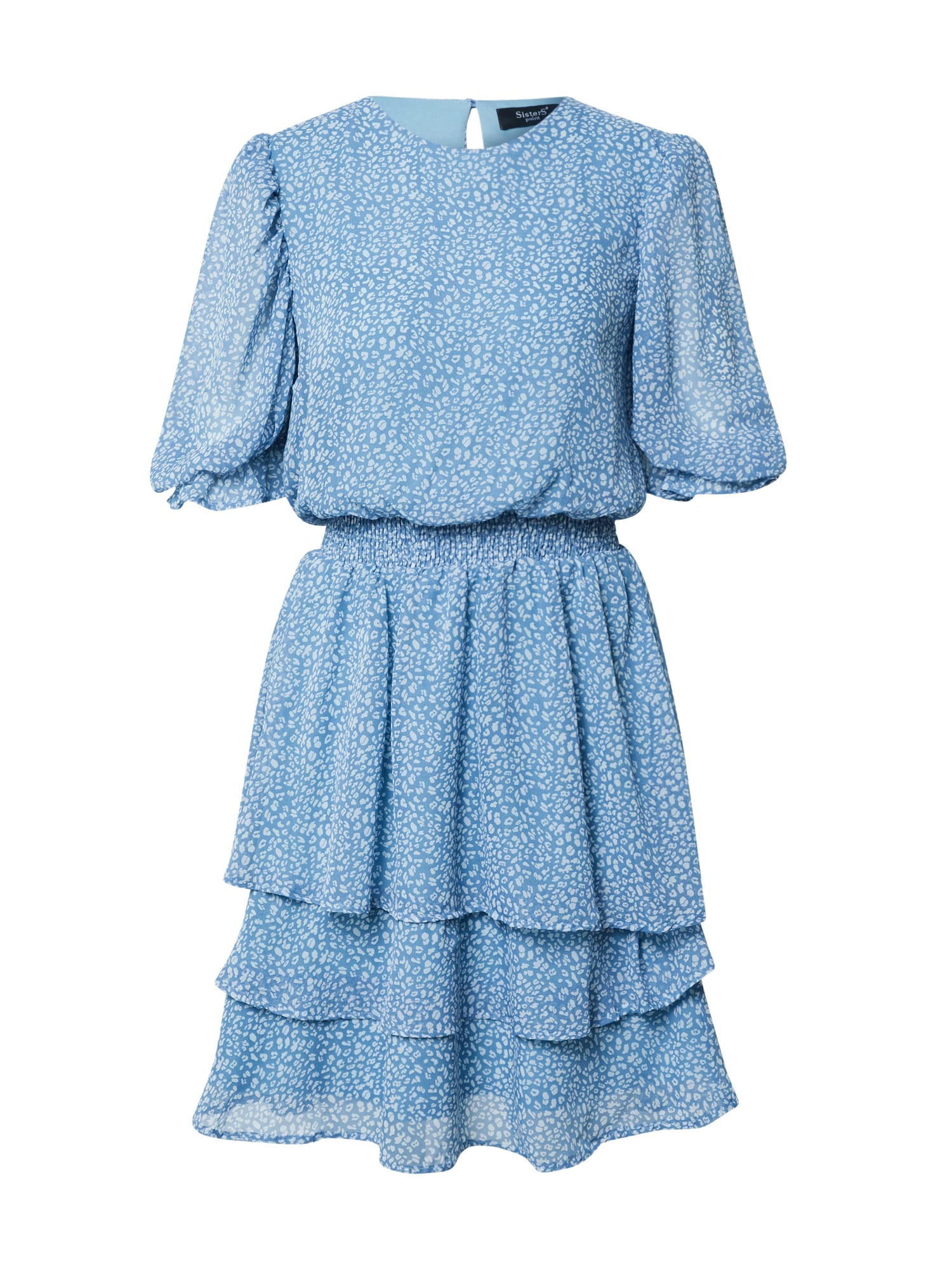 SISTERS POINT Šaty 'NICOLINE'  biela / dymovo modrá