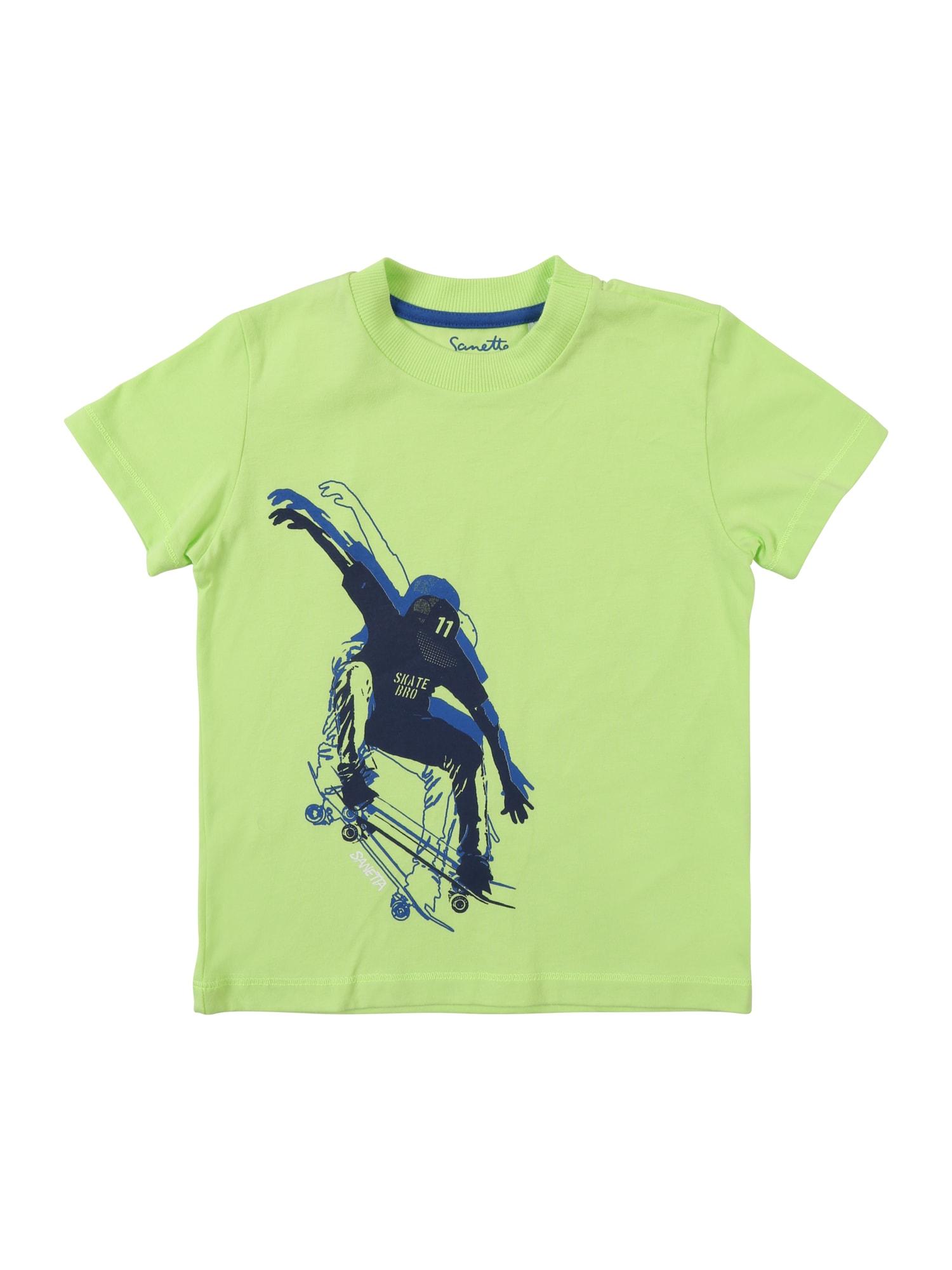 Tričko modrá námořnická modř jablko Sanetta Kidswear