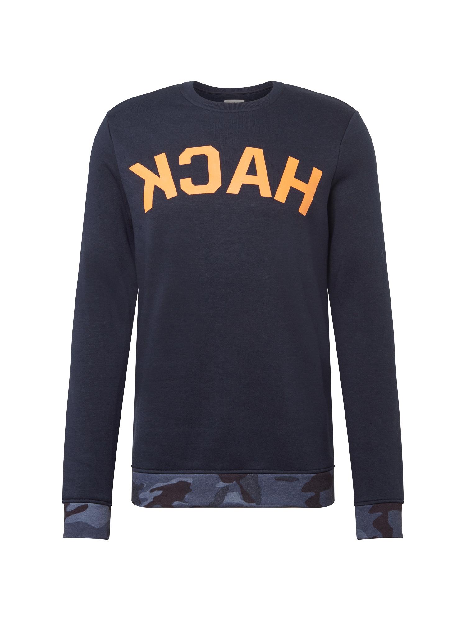 Mikina Hack Sweater tmavě modrá oranžová YOURTURN