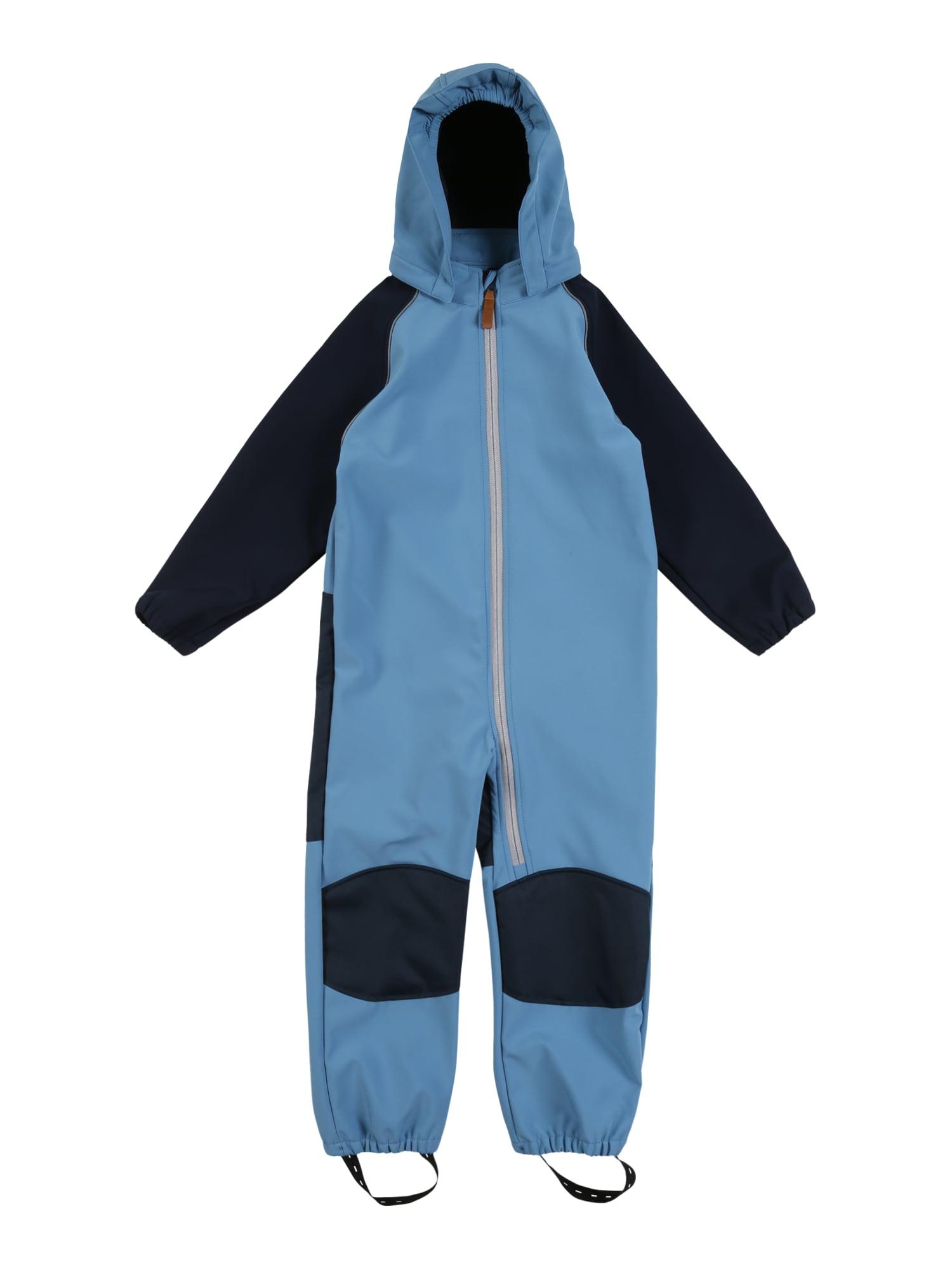 NAME IT Dalykinio stiliaus kostiumas 'NMMALFA SUIT COLORBLOCK FO' tamsiai mėlyna / šviesiai mėlyna