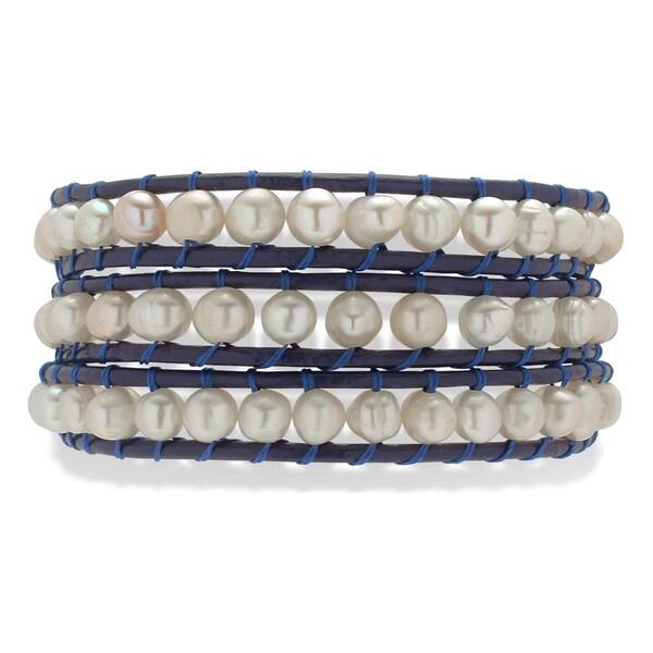 Armbaender - Armband › Rafaela Donata › navy perlweiß  - Onlineshop ABOUT YOU
