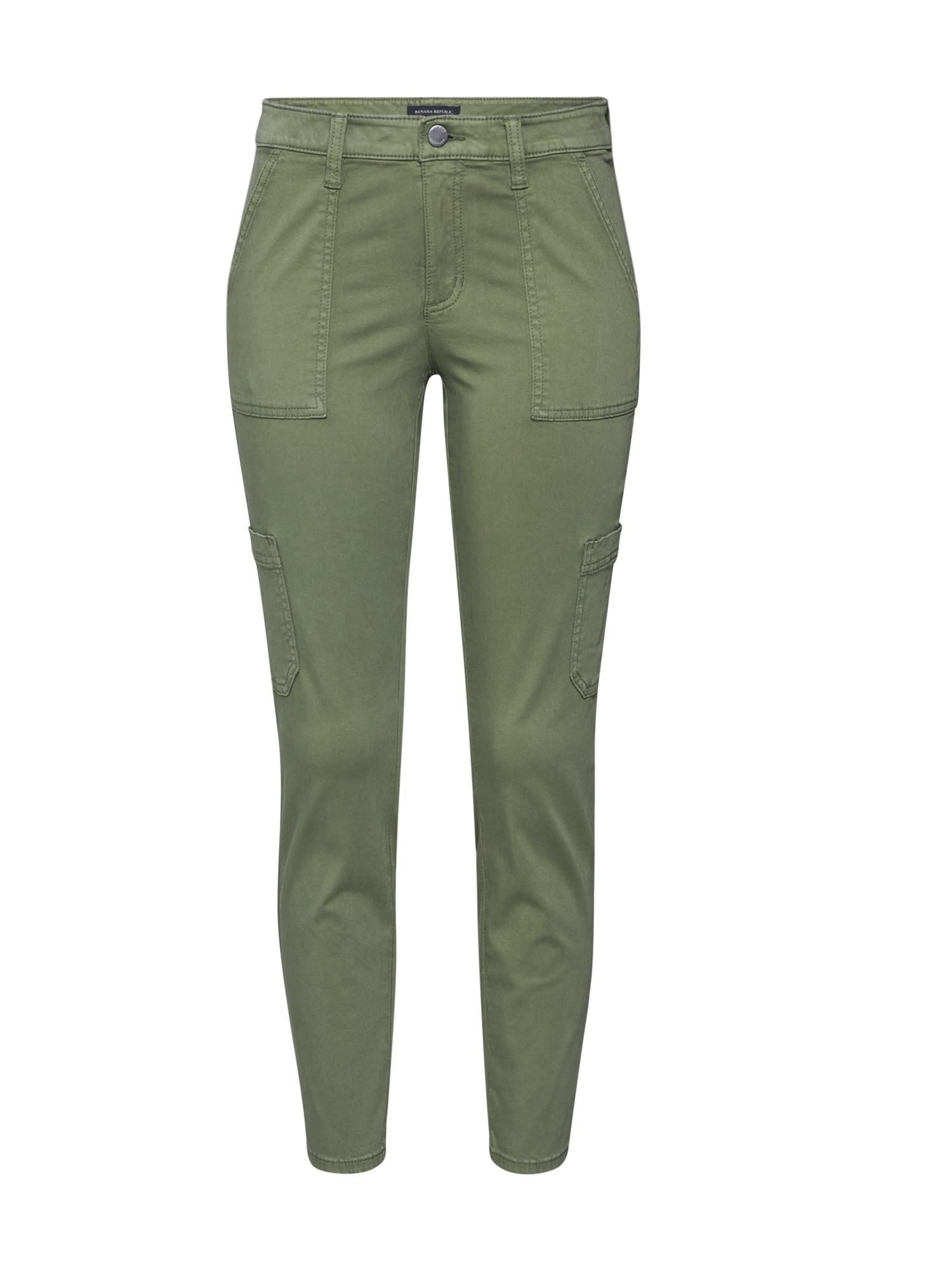 Banana Republic Laisvo stiliaus kelnės 'SLOAN' tamsiai žalia