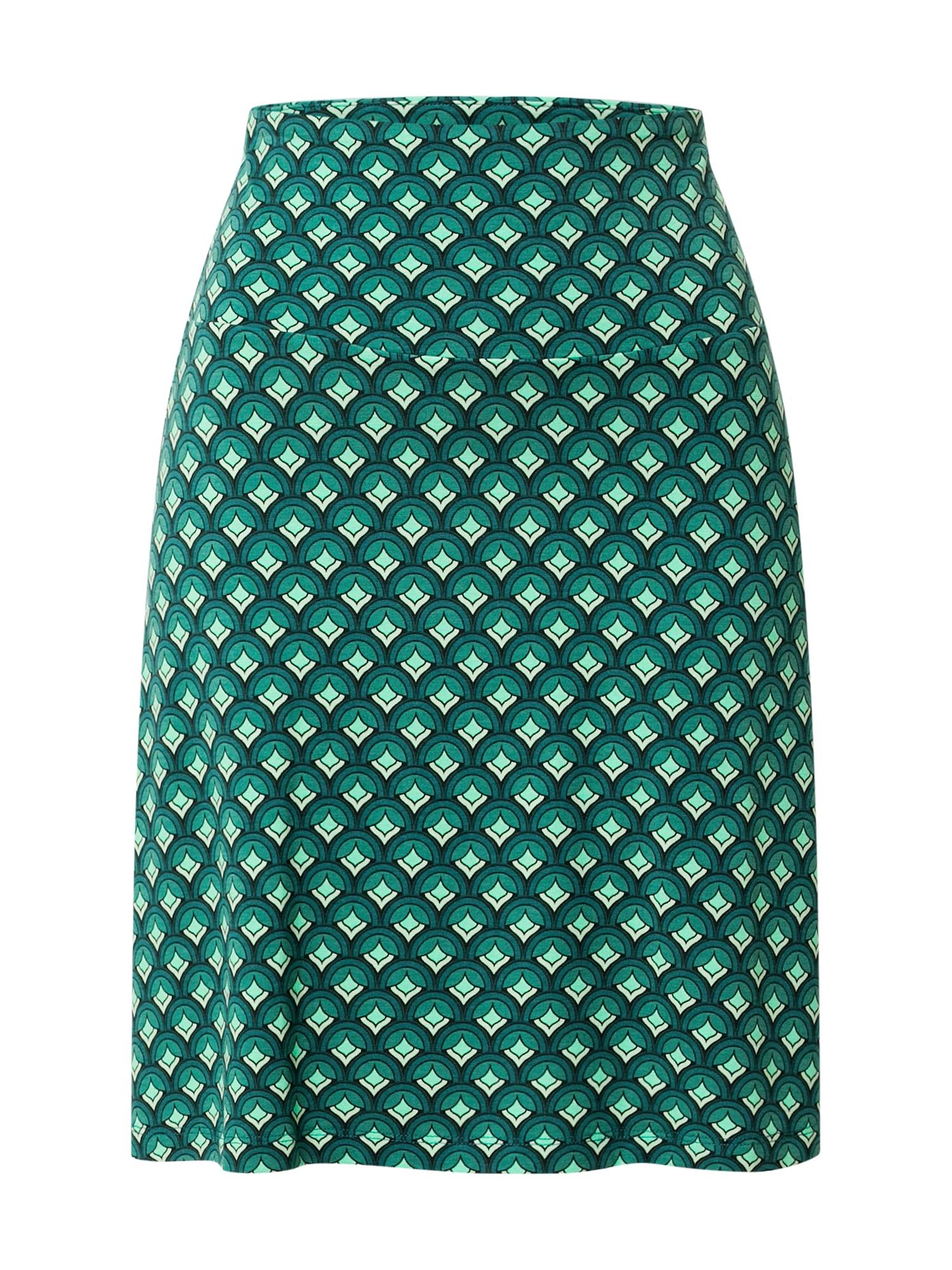 King Louie Sijonas žalia / tamsiai žalia / pastelinė žalia / glaisto spalva