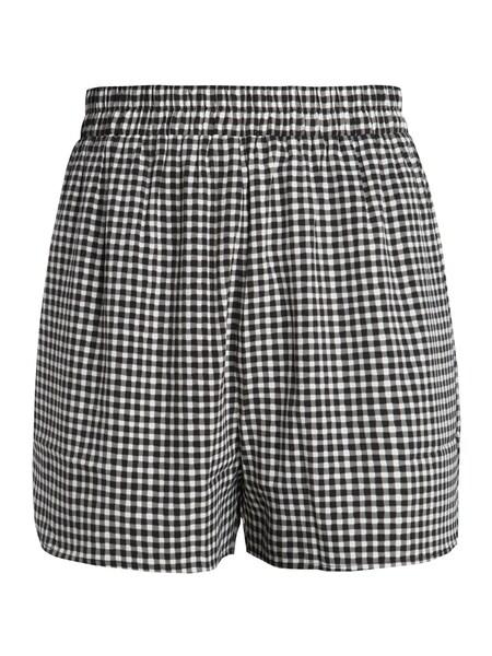 Hosen für Frauen - PIECES Shorts schwarz weiß  - Onlineshop ABOUT YOU