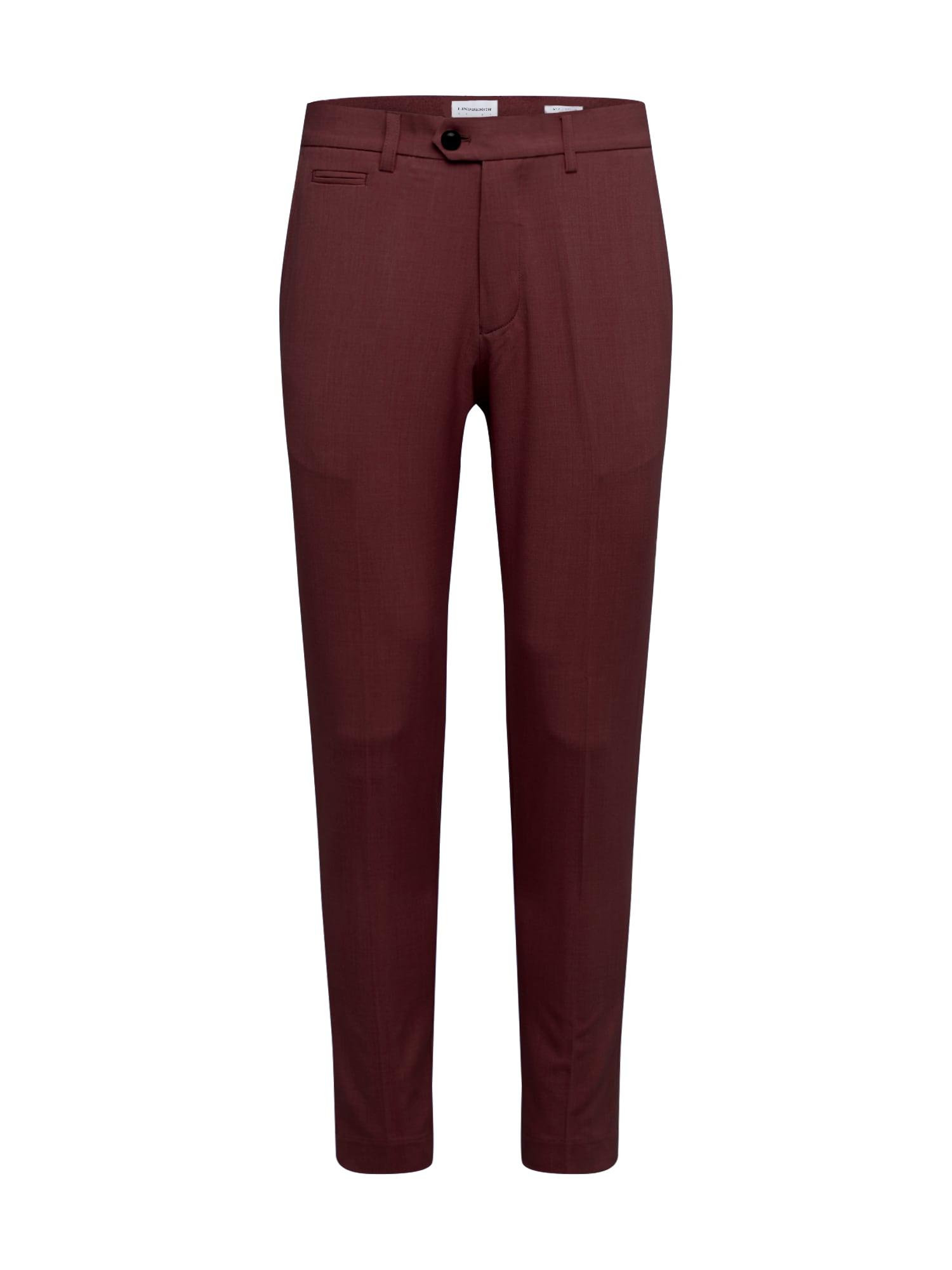 Lindbergh Nohavice s pukmi 'Club pants'  vínovo červená