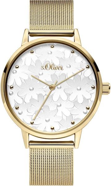 Uhren für Frauen - S.Oliver RED LABEL Quarzuhr 'SO 3789 MQ' gold  - Onlineshop ABOUT YOU