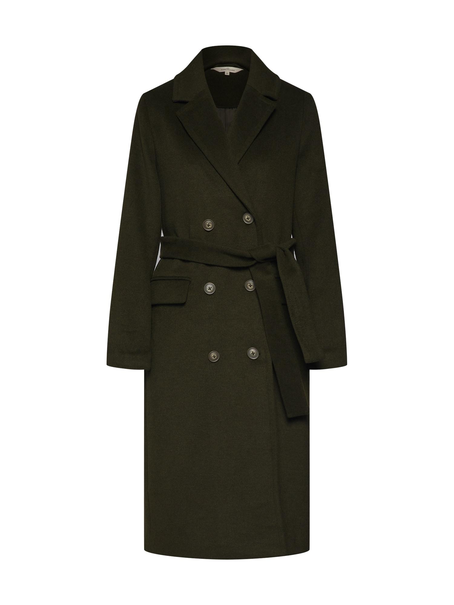 basic apparel Rudeninis-žieminis paltas 'Clara coat' rusvai žalia