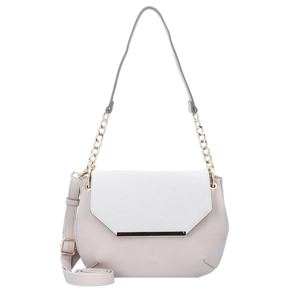 Schultertaschen für Frauen - Schultertasche 'Leonora' 25 cm › Gabor › beige weiß  - Onlineshop ABOUT YOU