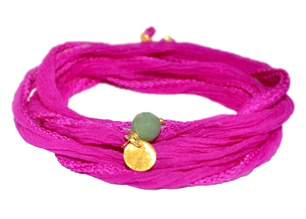 Armbaender für Frauen - YOGISTAR.COM Wickel Armband 'Mychakra' gold fuchsia  - Onlineshop ABOUT YOU