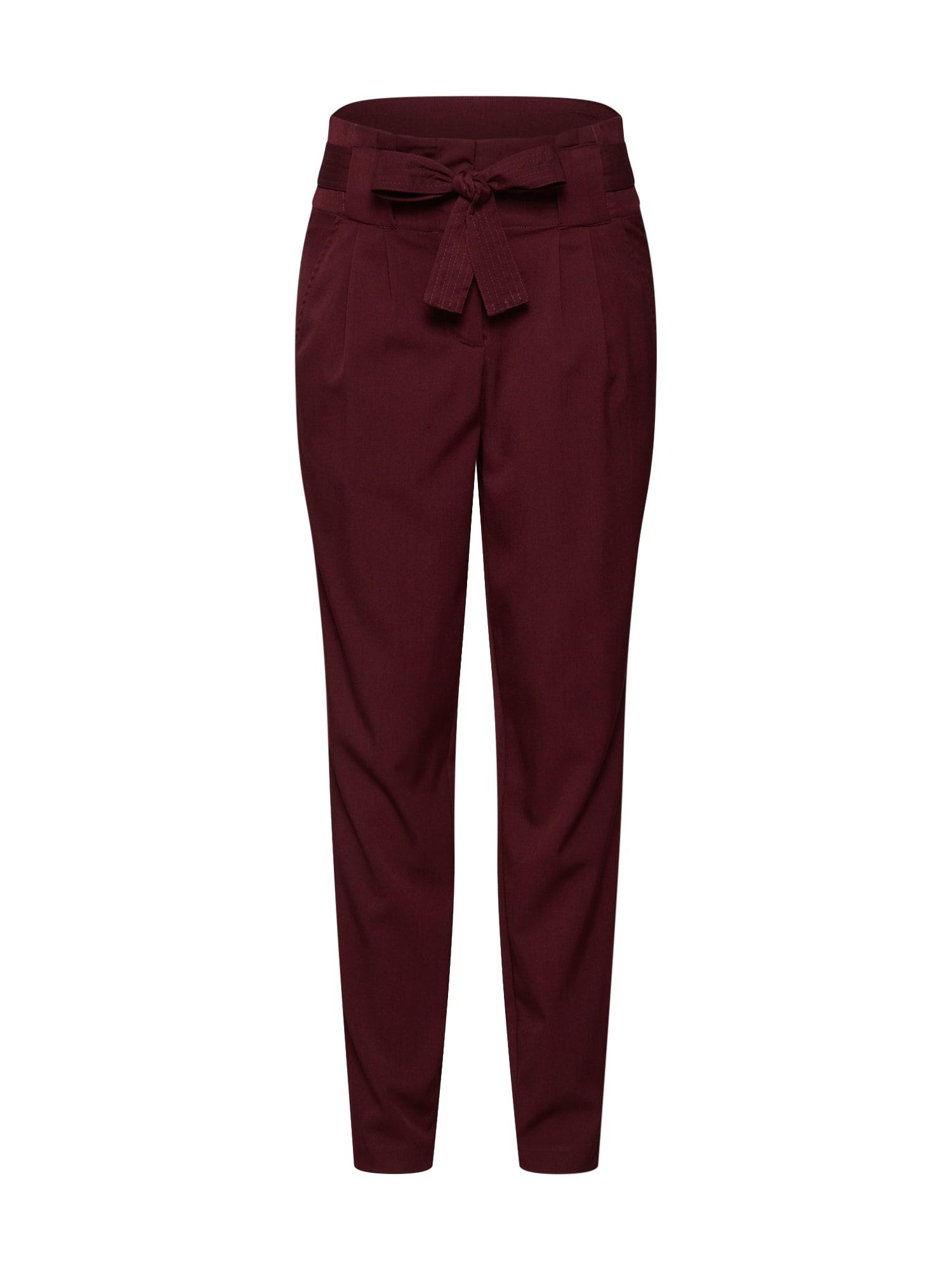 Kalhoty se sklady v pase fialová Y.A.S