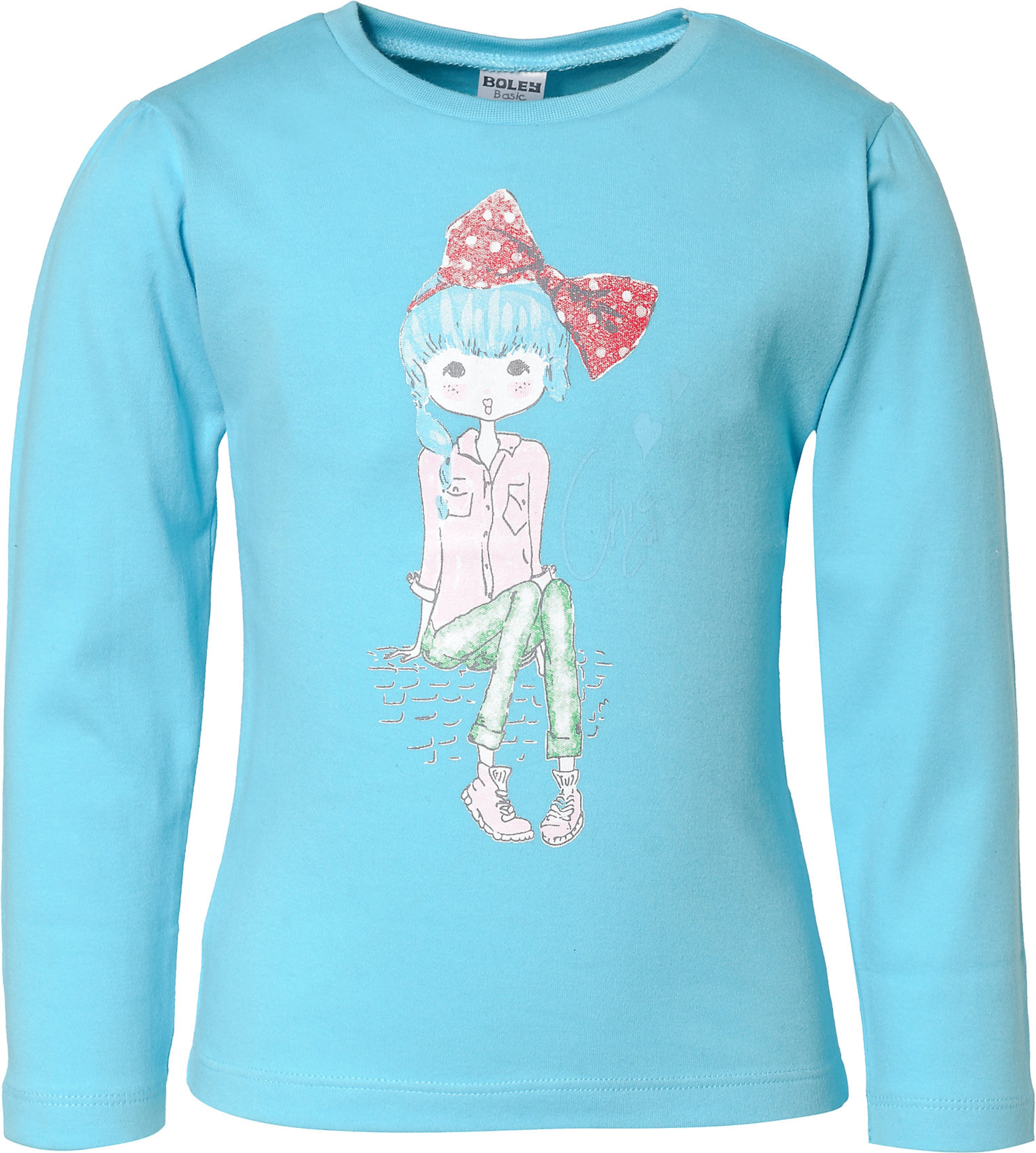 Kinder,  Mädchen,  Kinder Boley Shirt aqua,  blau,  blau, khaki | 04001742653550