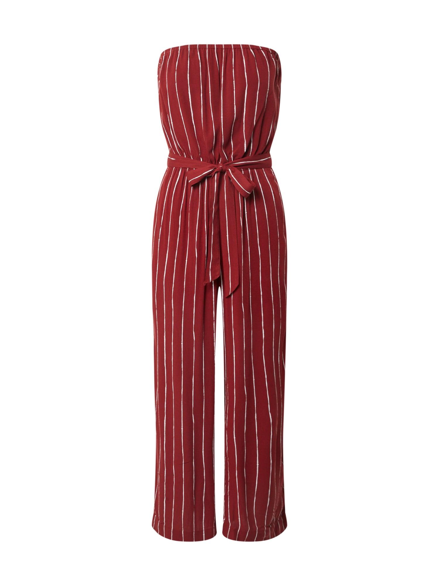 Abercrombie & Fitch Kombinezono tipo kostiumas burgundiško vyno spalva