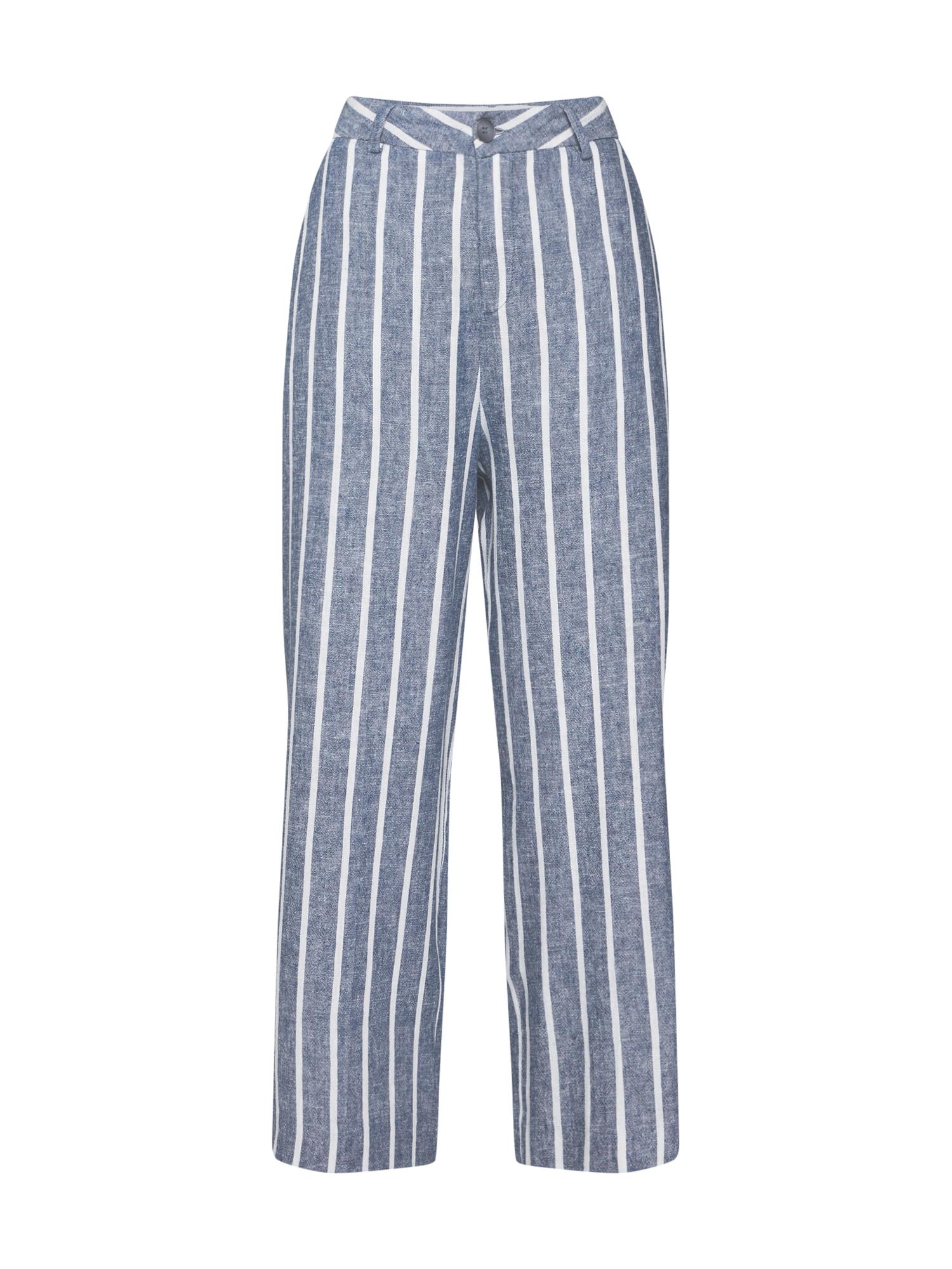 Kalhoty Starlight Linen Stripes modrá Herrlicher